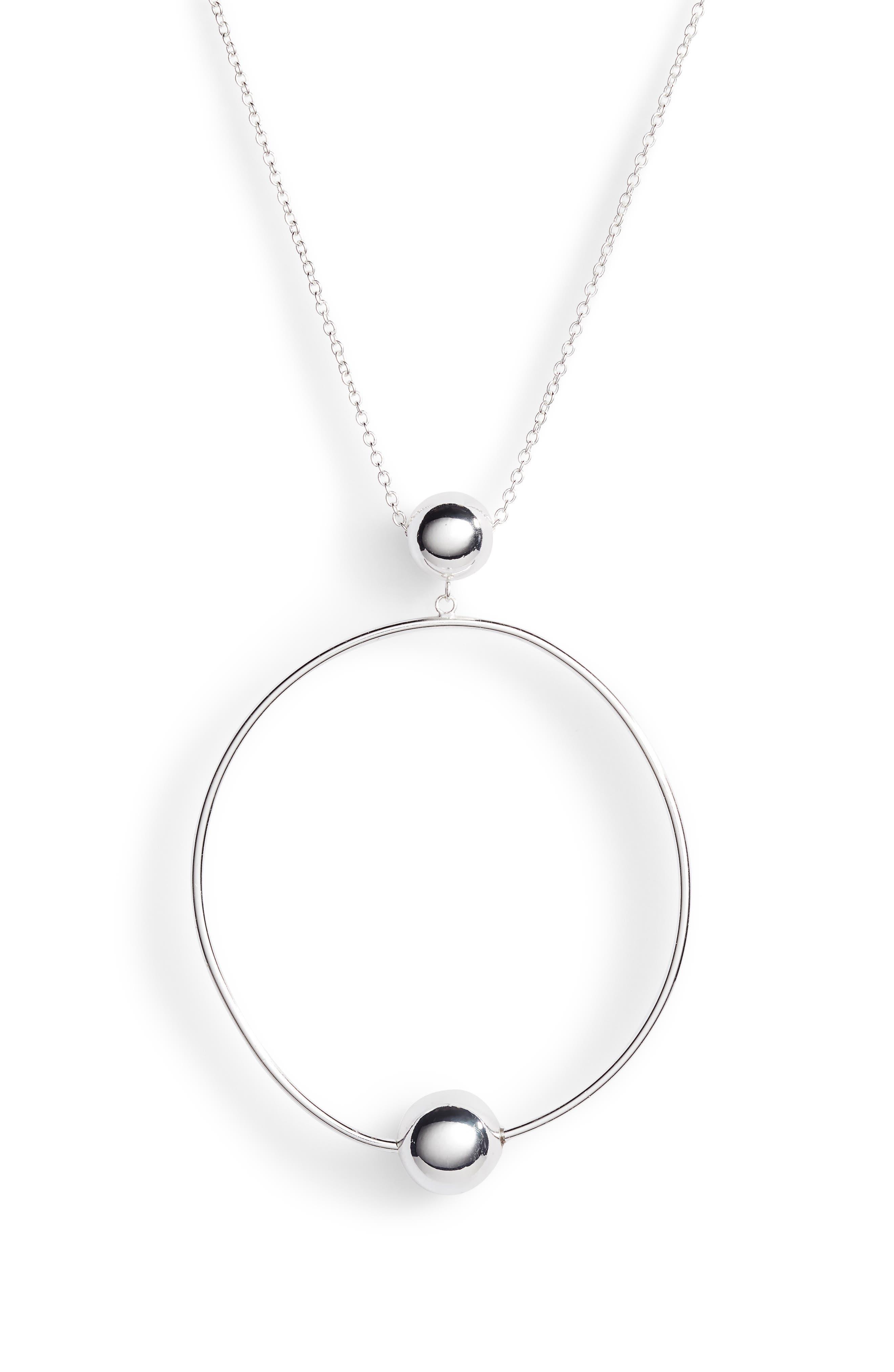 Open Circle Sphere Pendant Necklace,                             Alternate thumbnail 2, color,                             046
