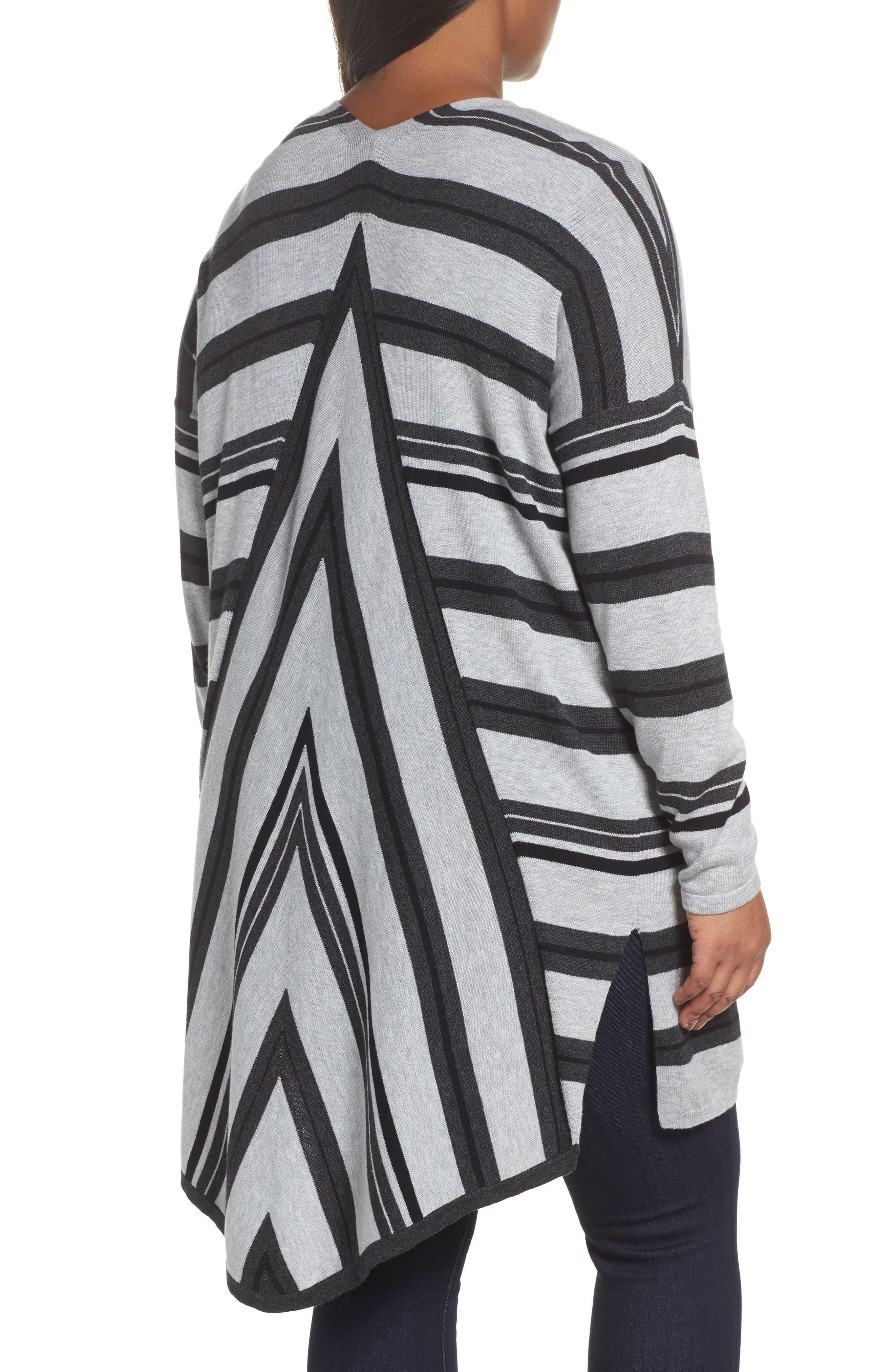 Long Stripe Cardigan,                             Alternate thumbnail 2, color,                             028