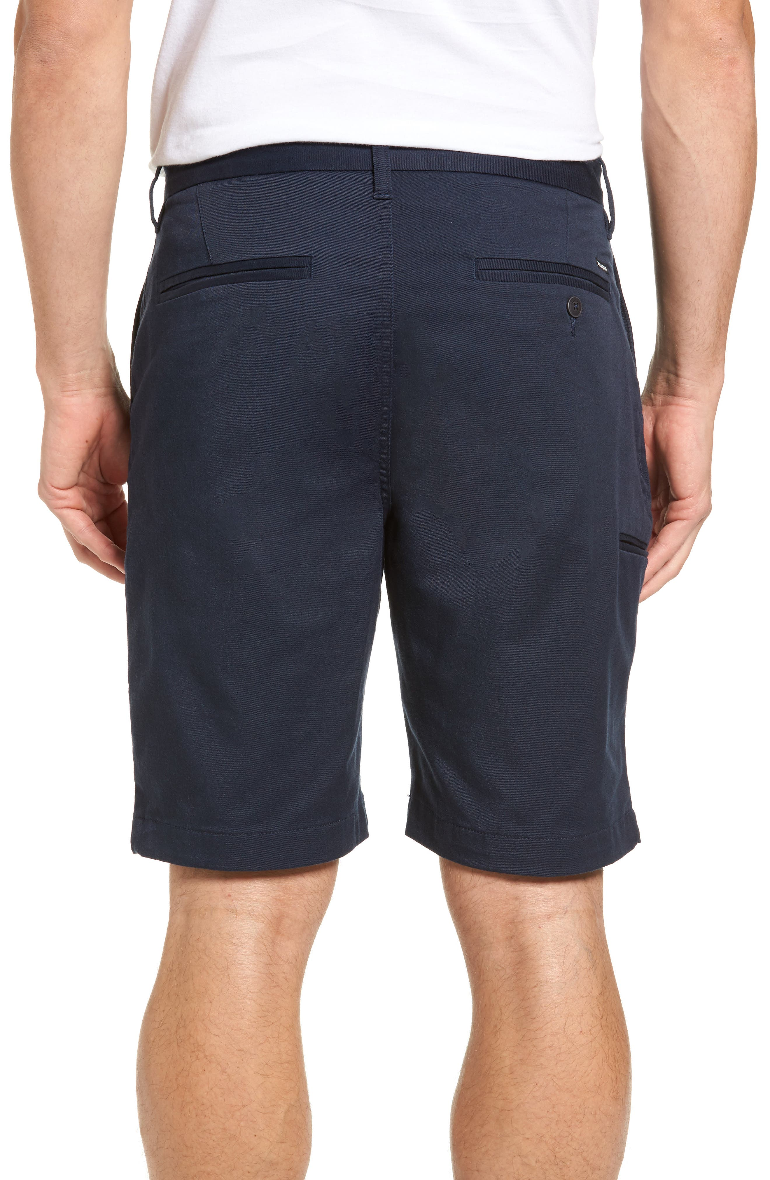 Carter Stretch Twill Shorts,                             Alternate thumbnail 8, color,