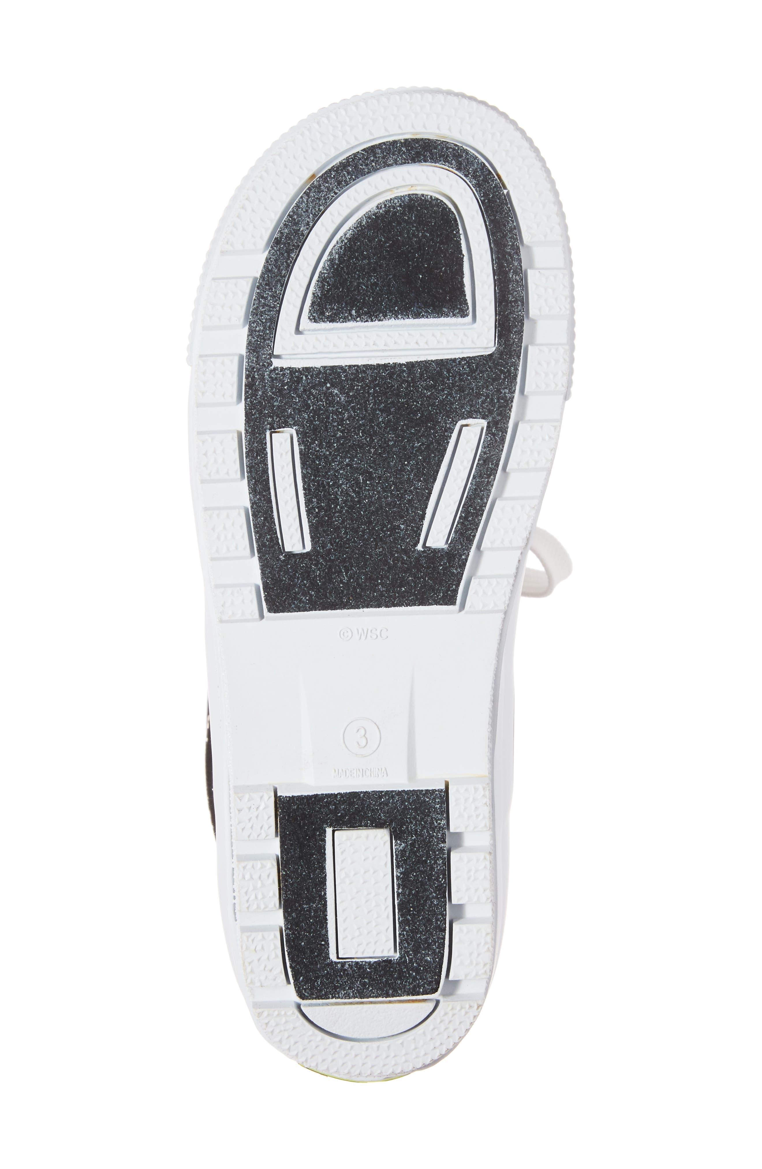 Waterproof Sneaker Rain Boot,                             Alternate thumbnail 6, color,                             001