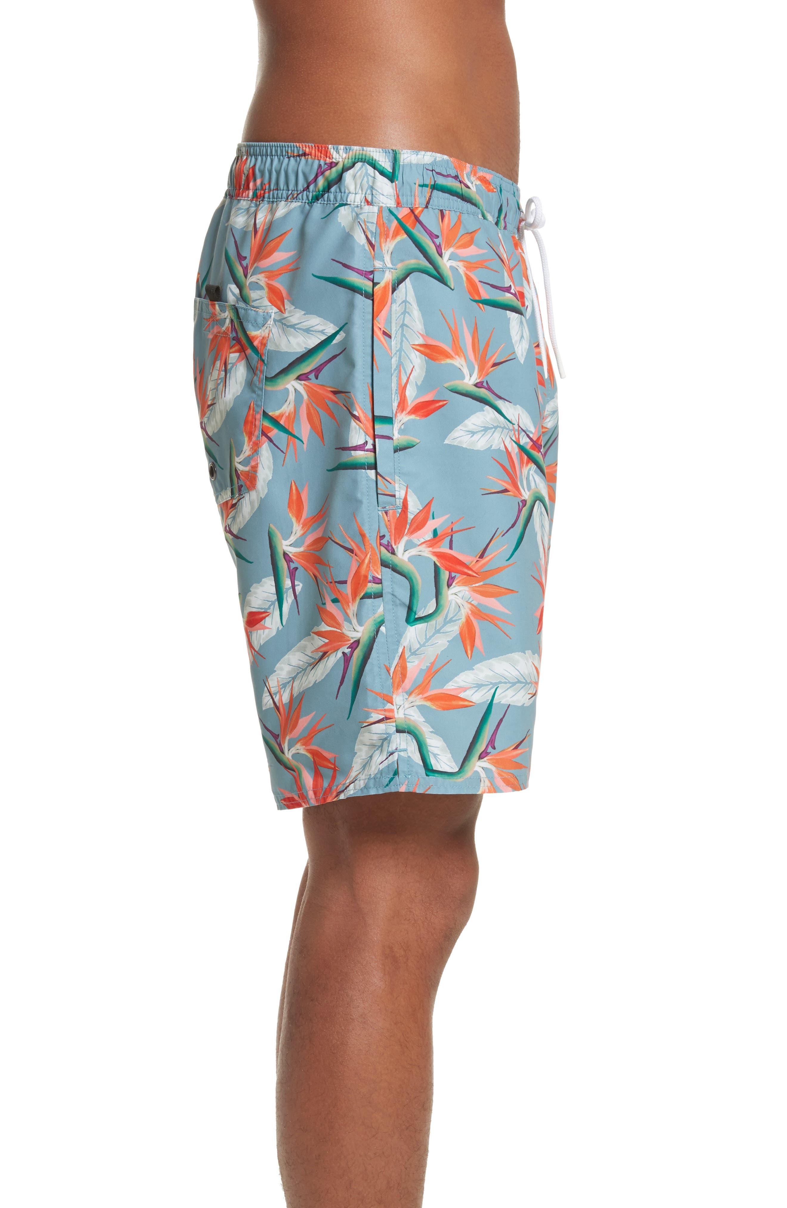 Timothy Paradise Swim Shorts,                             Alternate thumbnail 3, color,                             PARADISE PRINT