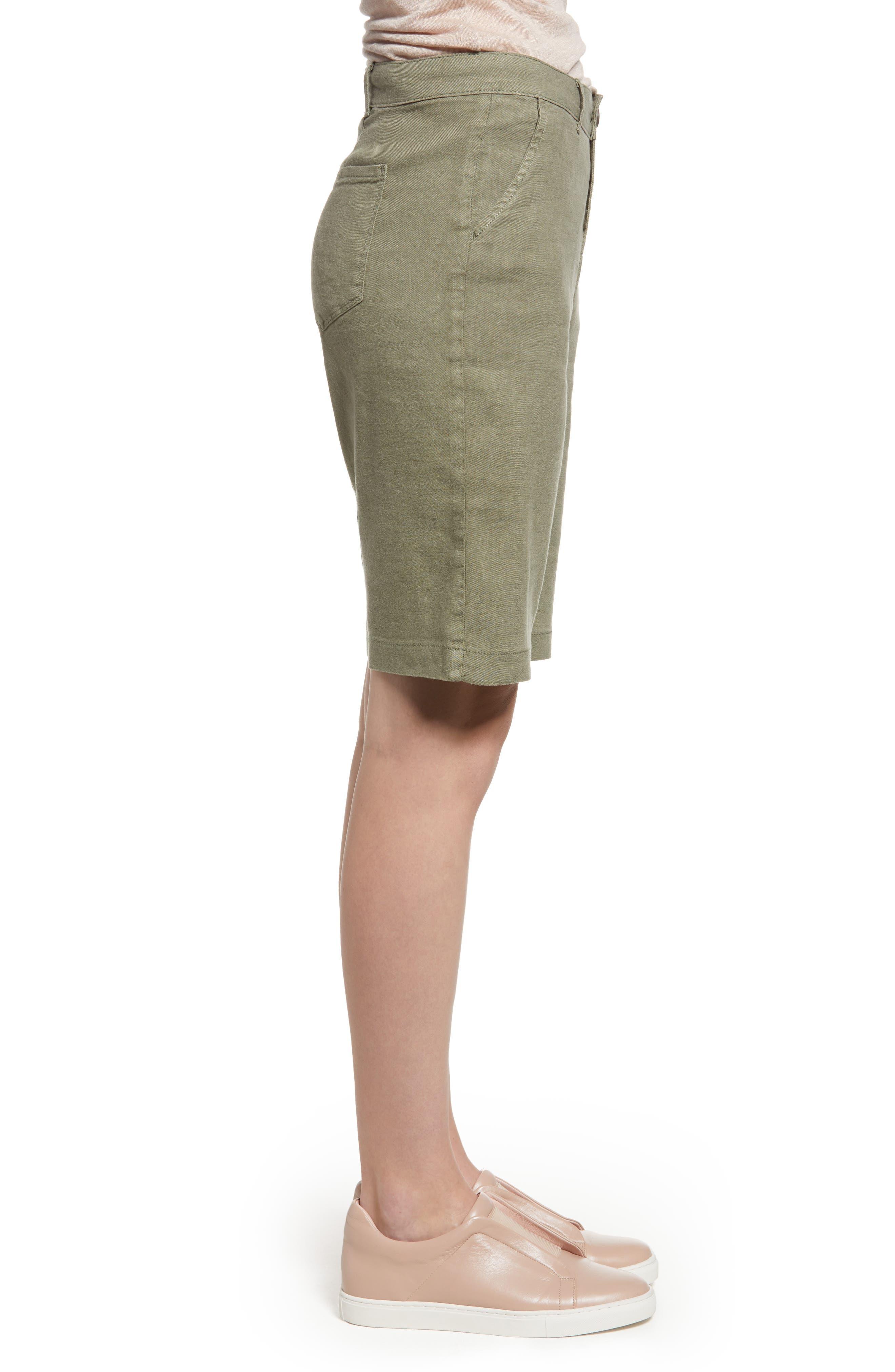 Stretch Linen Blend Bermuda Shorts,                             Alternate thumbnail 9, color,