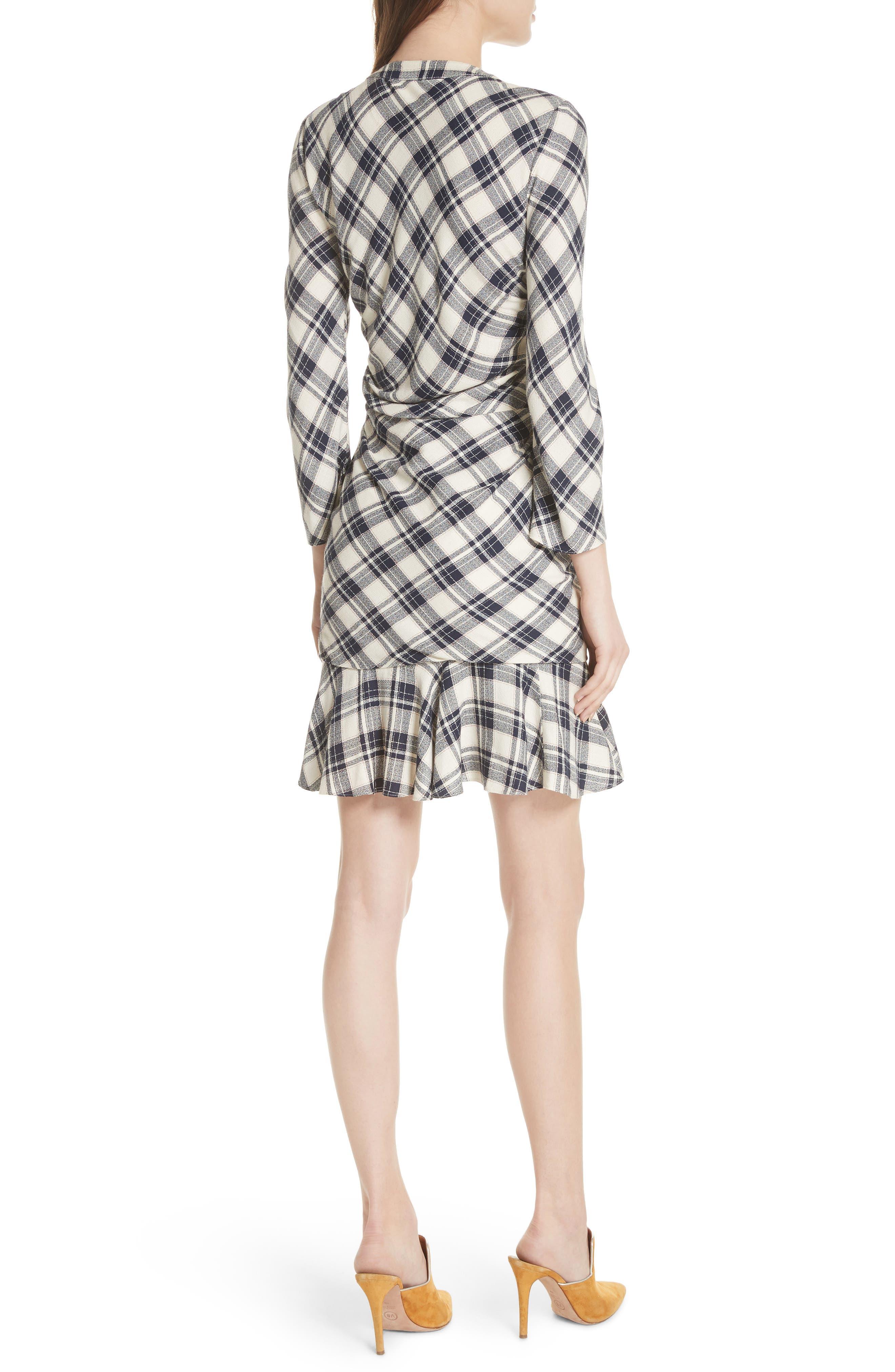 Rowe Asymmetrical Button Dress,                             Alternate thumbnail 2, color,                             417