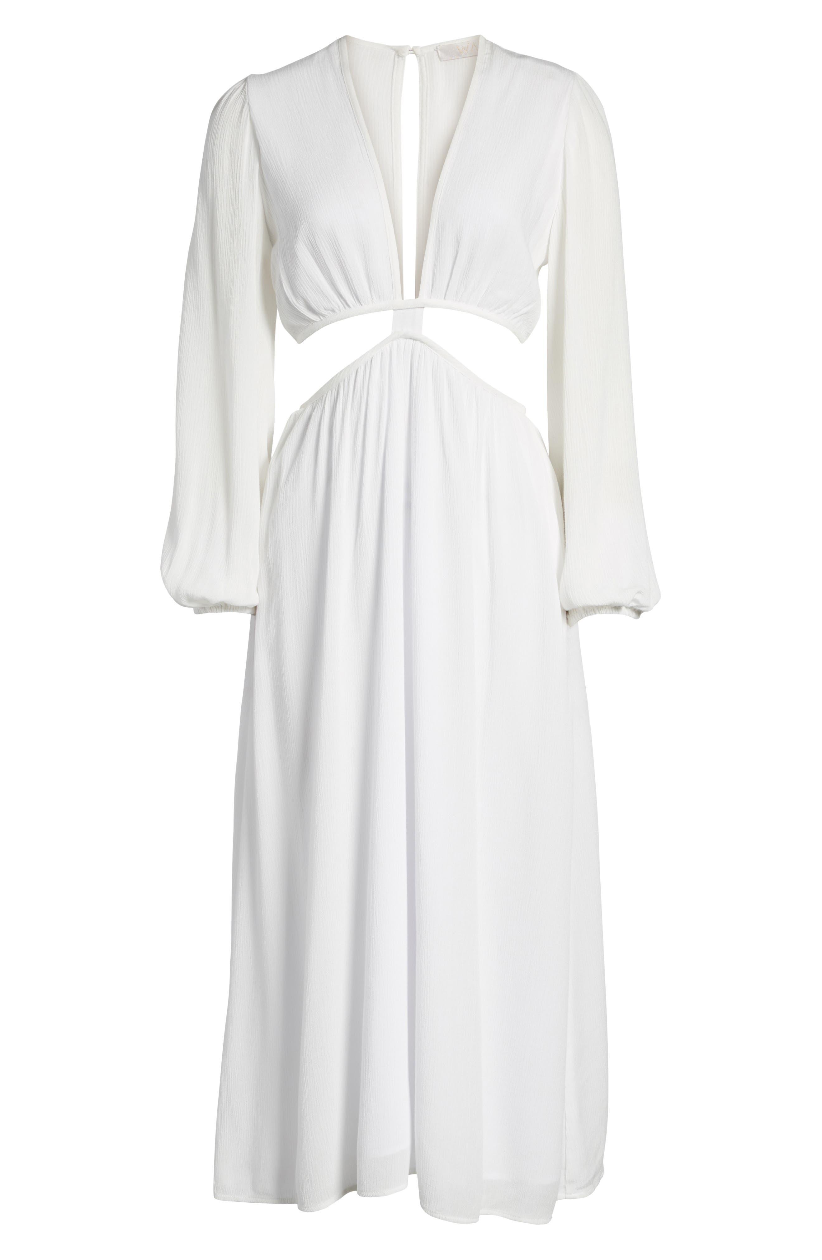 WAYF,                             Babylon Cutout Dress,                             Alternate thumbnail 8, color,                             900