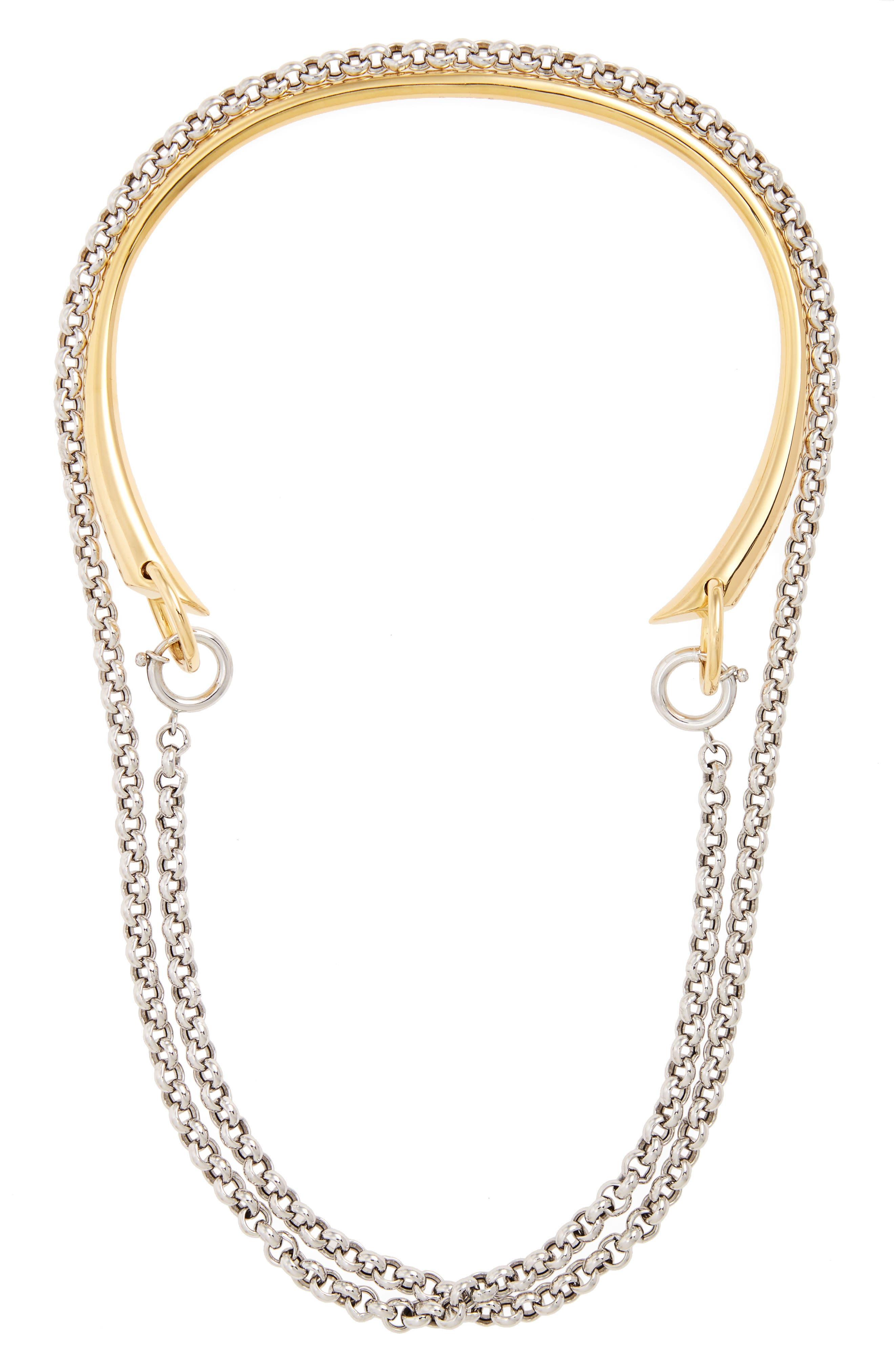 Briska Necklace,                             Main thumbnail 1, color,                             SILVER/YELLOW/VERMEIL