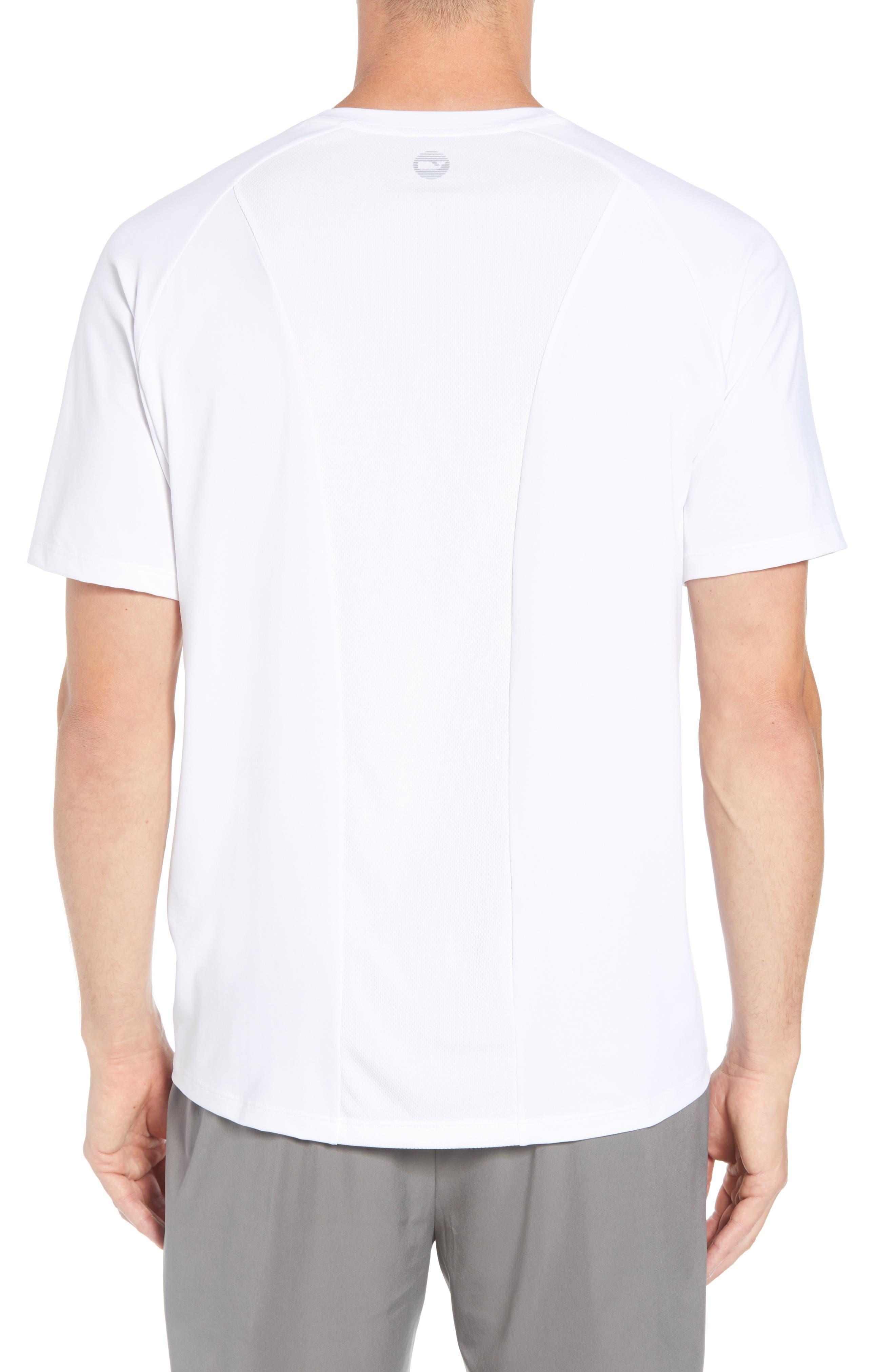 Mesh Inset T-Shirt,                             Alternate thumbnail 2, color,                             WHITE CAP