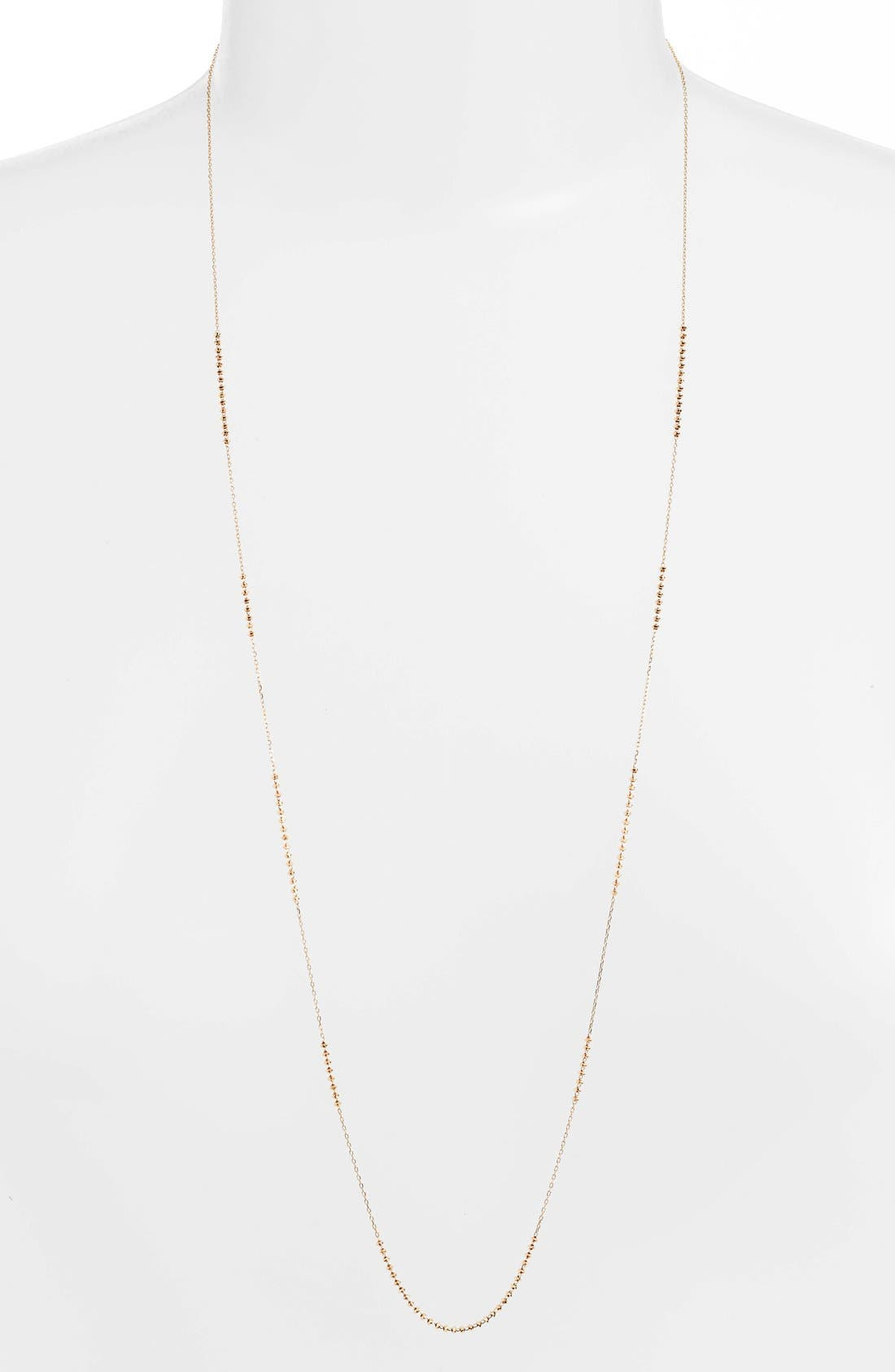 'Shimmer' Strand Necklace,                         Main,                         color, YELLOW GOLD