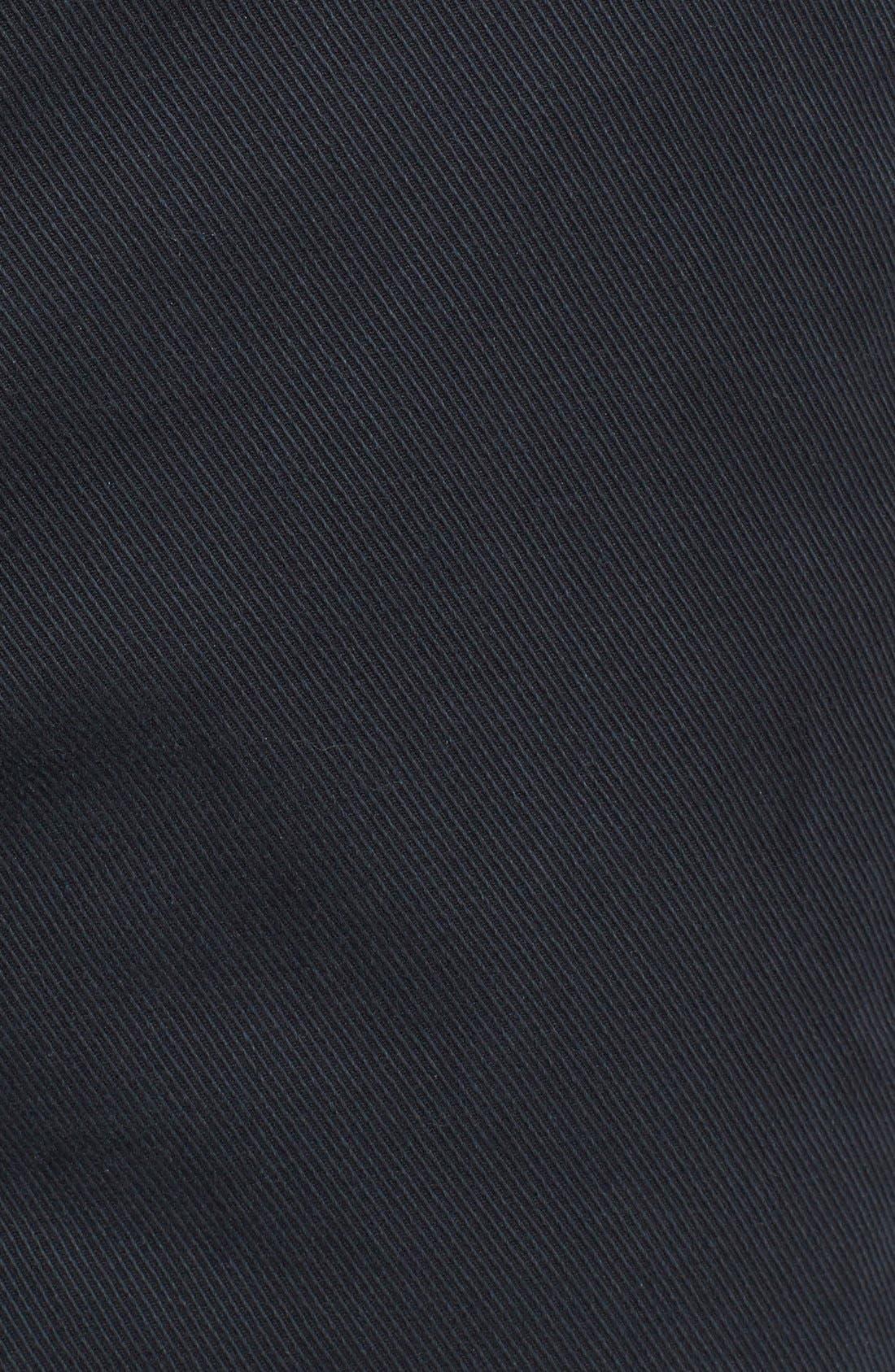 Curtis Flat Front Five-Pocket Cotton Twill Pants,                             Alternate thumbnail 6, color,                             BLACK