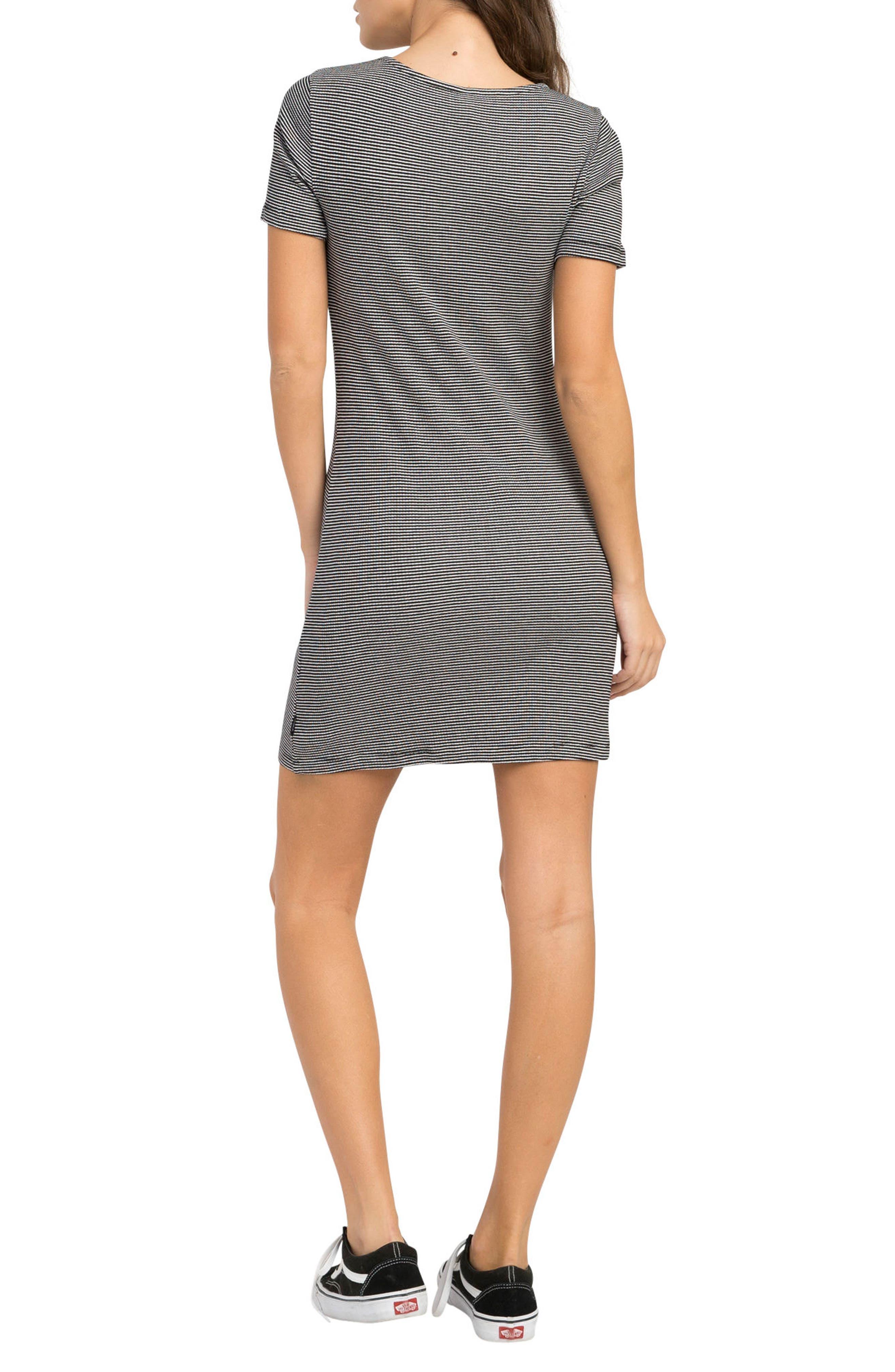 Zip It Striped Dress,                             Alternate thumbnail 2, color,                             001