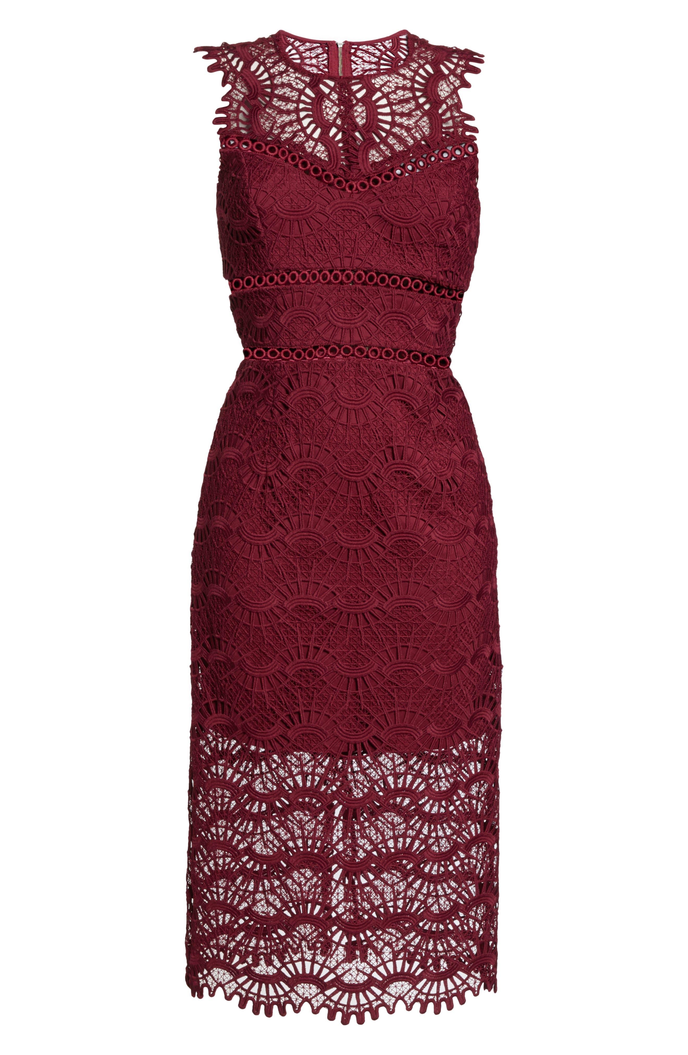 Mariano Lace Sheath Dress,                             Alternate thumbnail 8, color,                             601