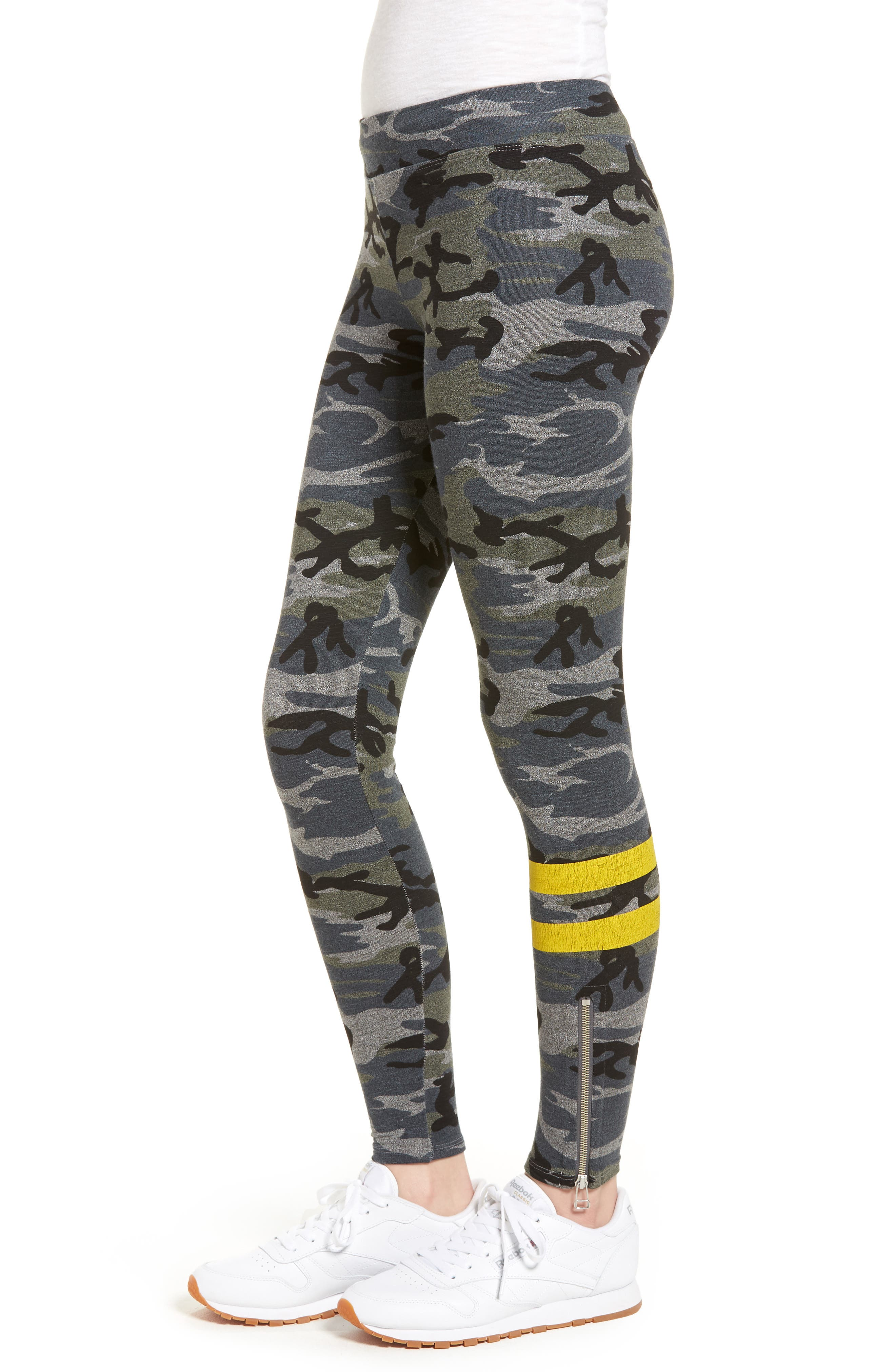 Stripe Camo Yoga Pants,                             Alternate thumbnail 3, color,                             020