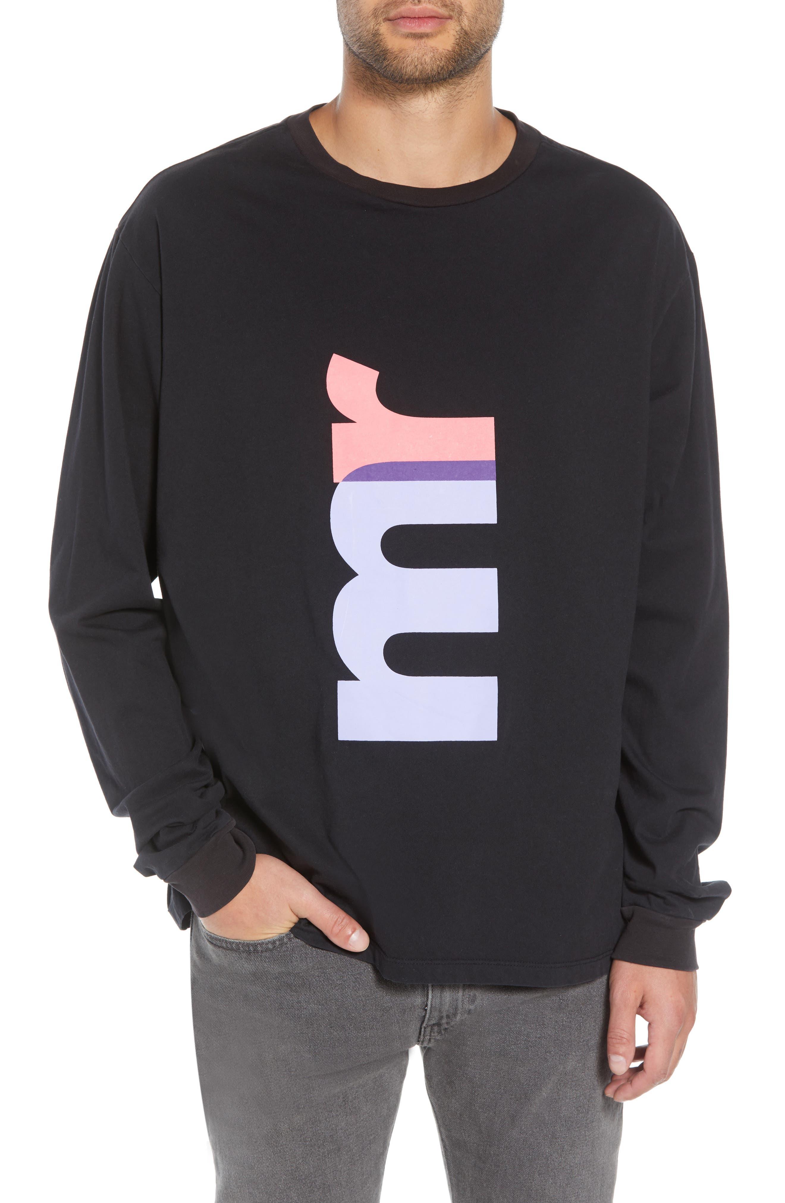 MR. COMPLETELY Big Mr Oversize Long Sleeve T-Shirt in Black