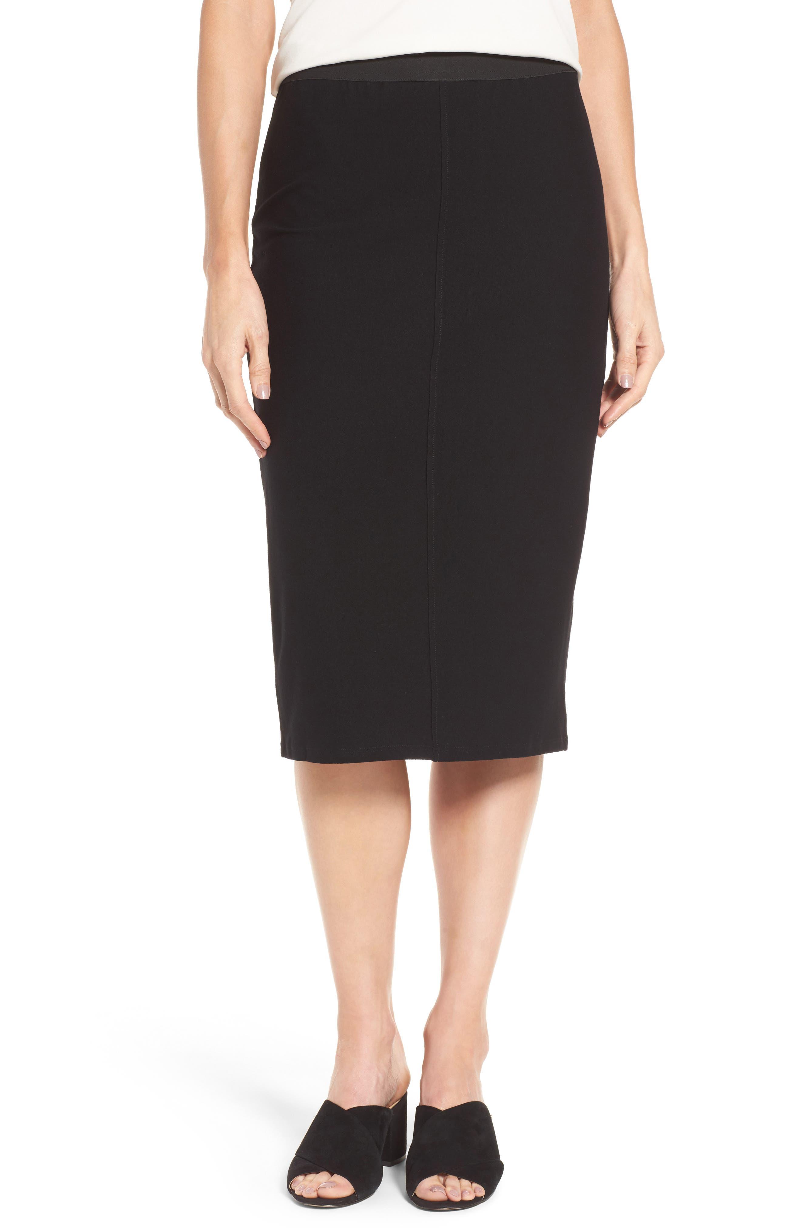 Knit Pencil Skirt,                         Main,                         color, 001