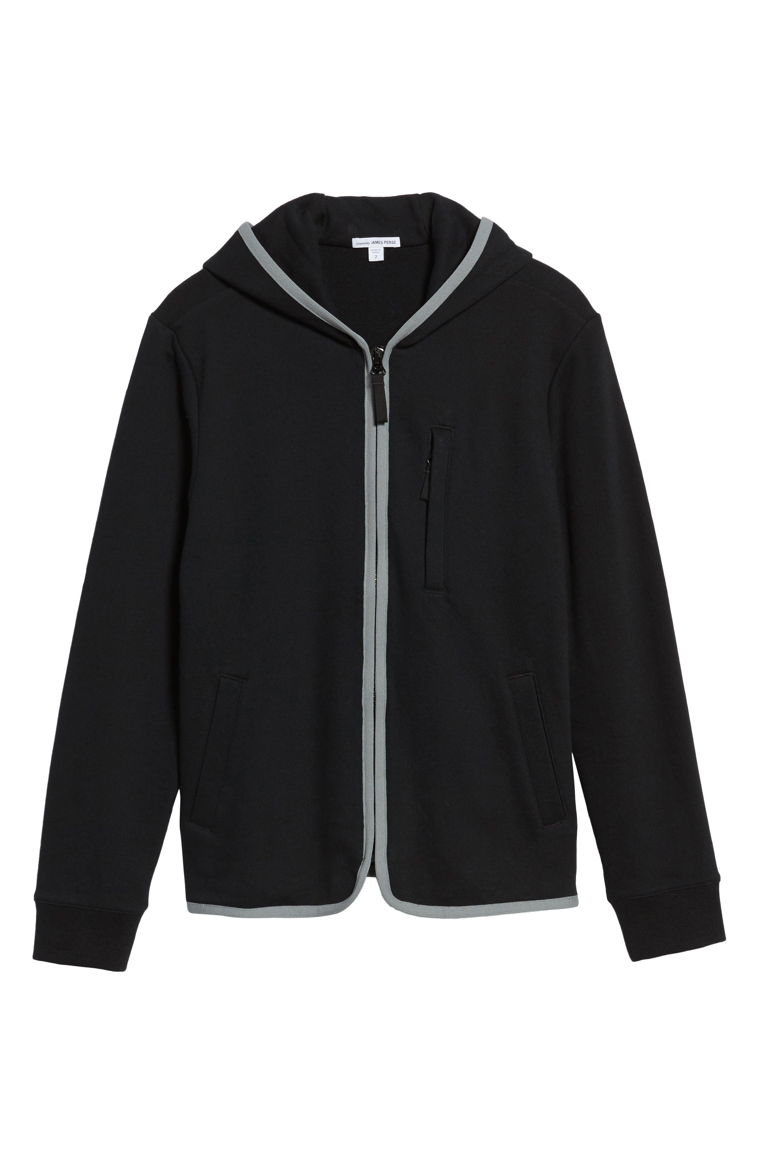 French Terry Zip Hoodie,                             Alternate thumbnail 6, color,                             015
