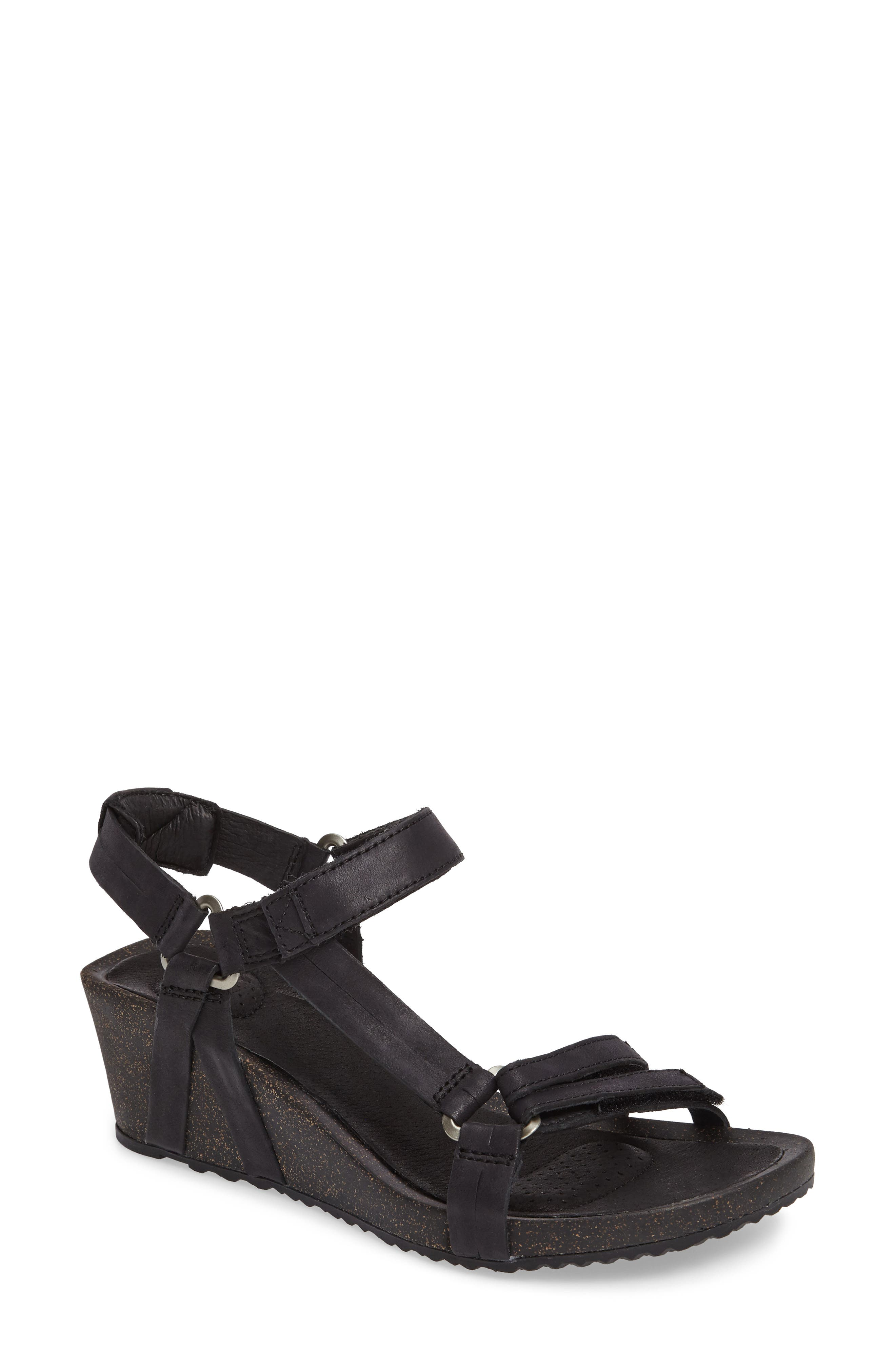Ysidro Wedge Sandal,                             Main thumbnail 1, color,                             002