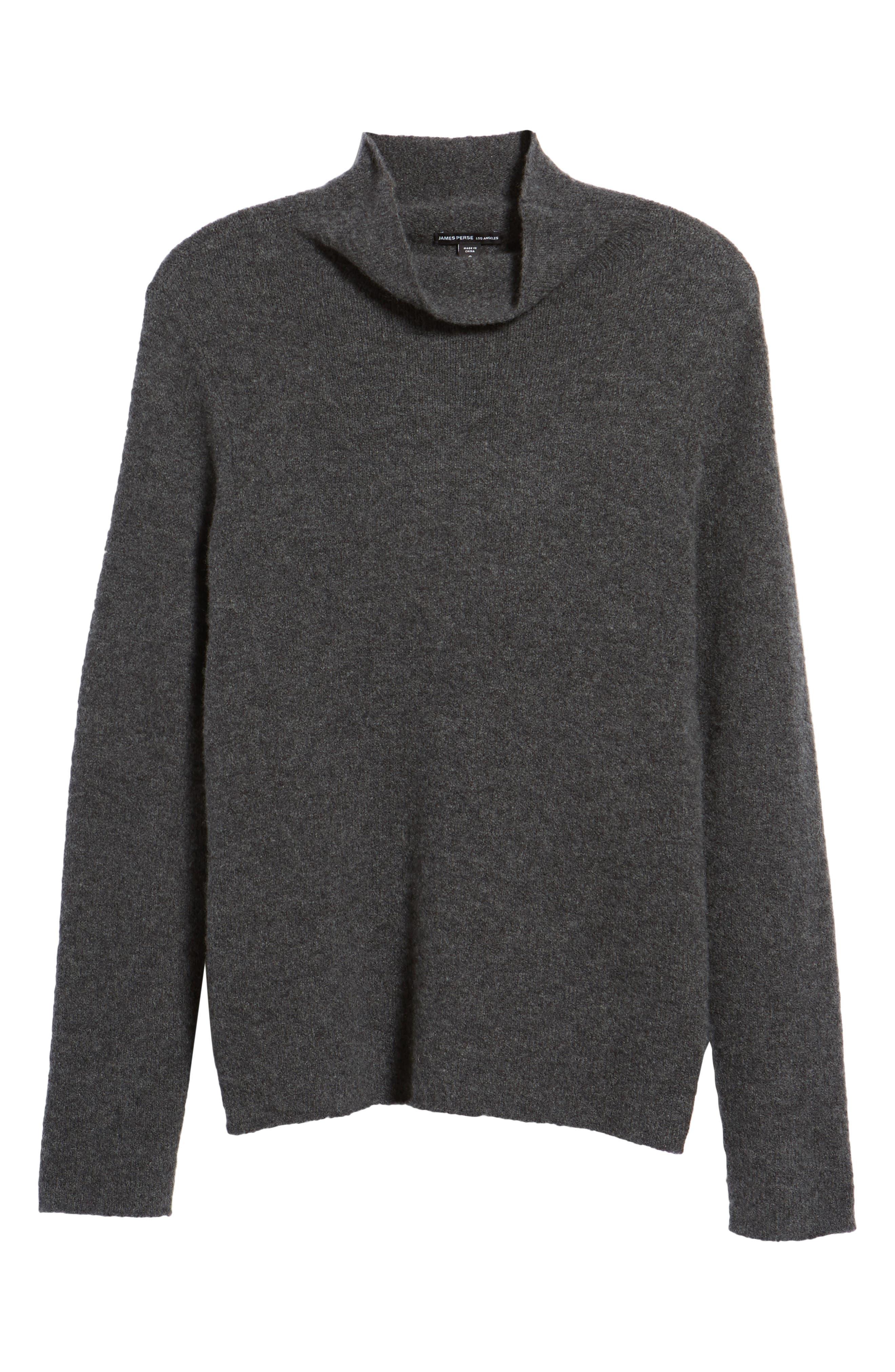 Stretch Cashmere Mock Neck Sweater,                             Alternate thumbnail 6, color,                             069