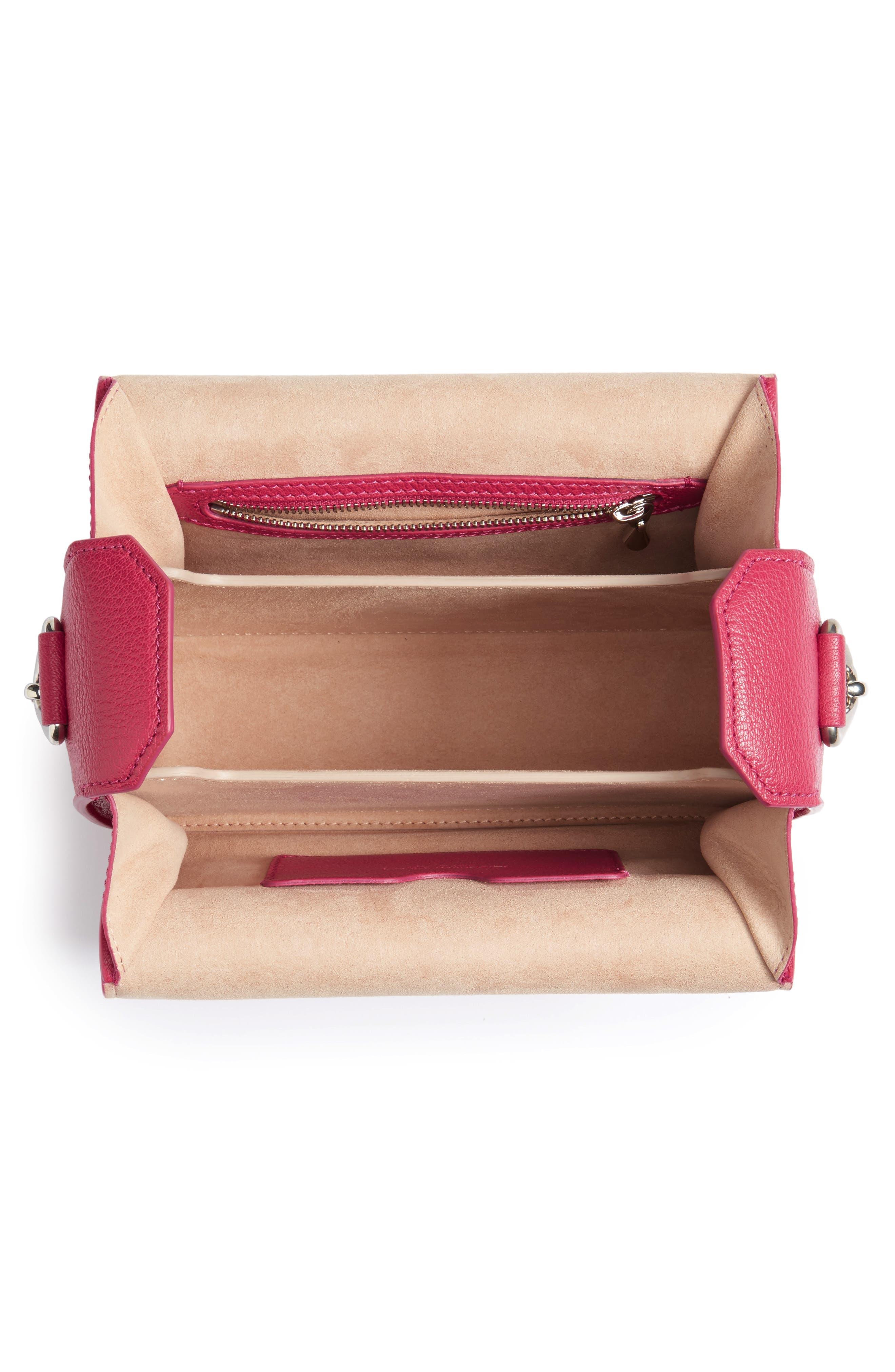 Leather Box Bag,                             Alternate thumbnail 4, color,                             526