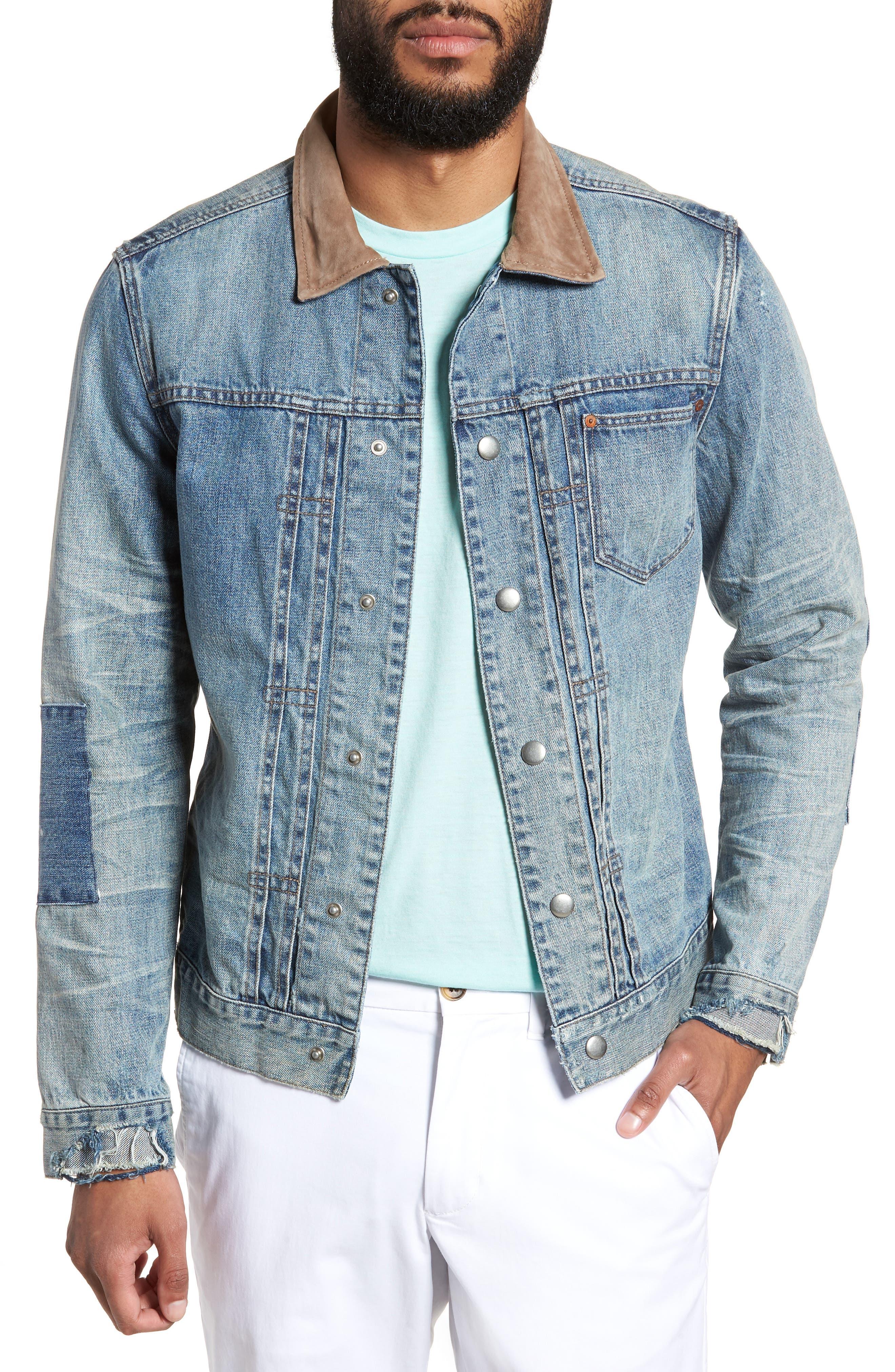 Inverness Denim Jacket,                         Main,                         color, 460
