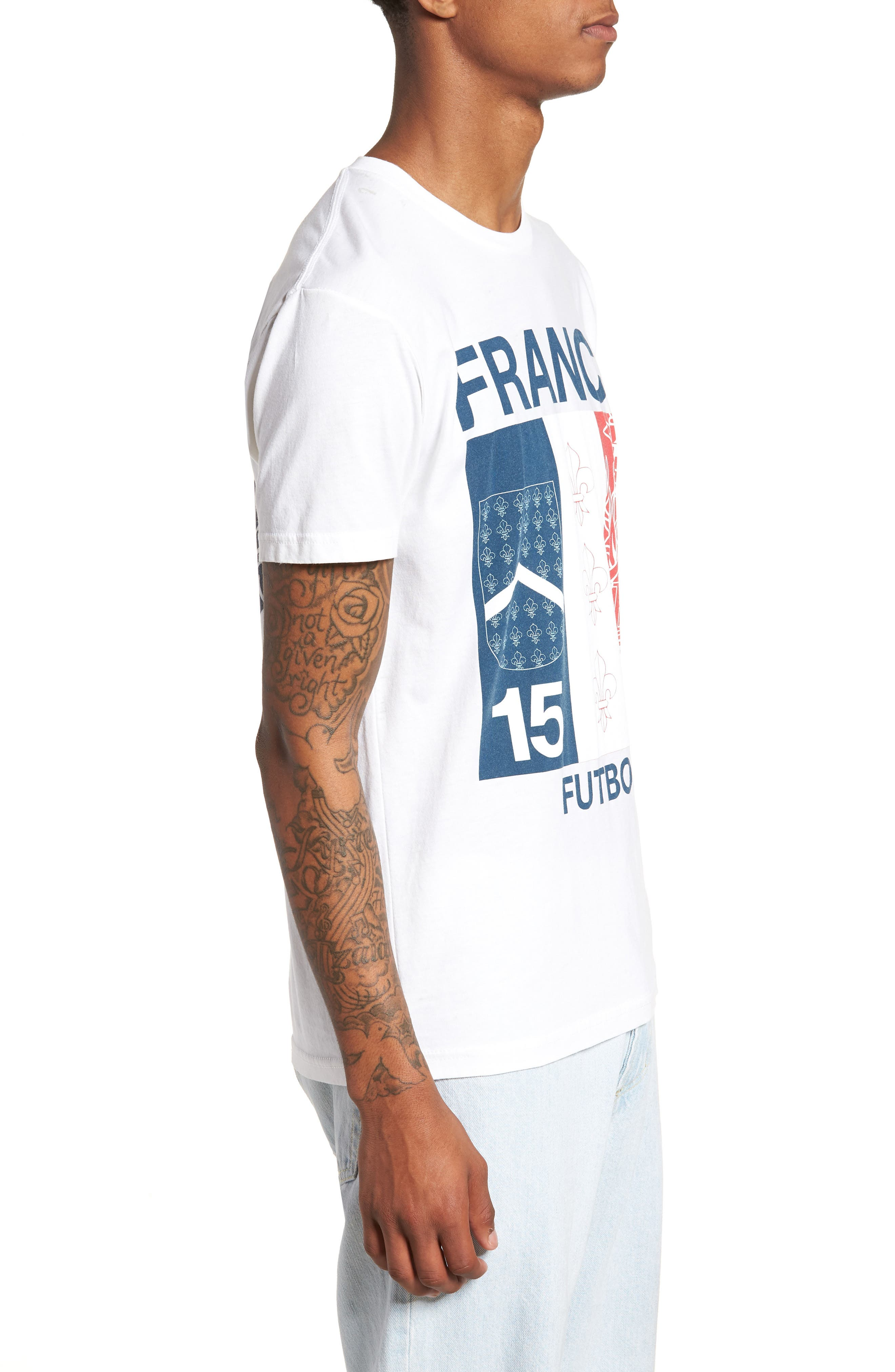 France Jersey T-Shirt,                             Alternate thumbnail 3, color,                             100