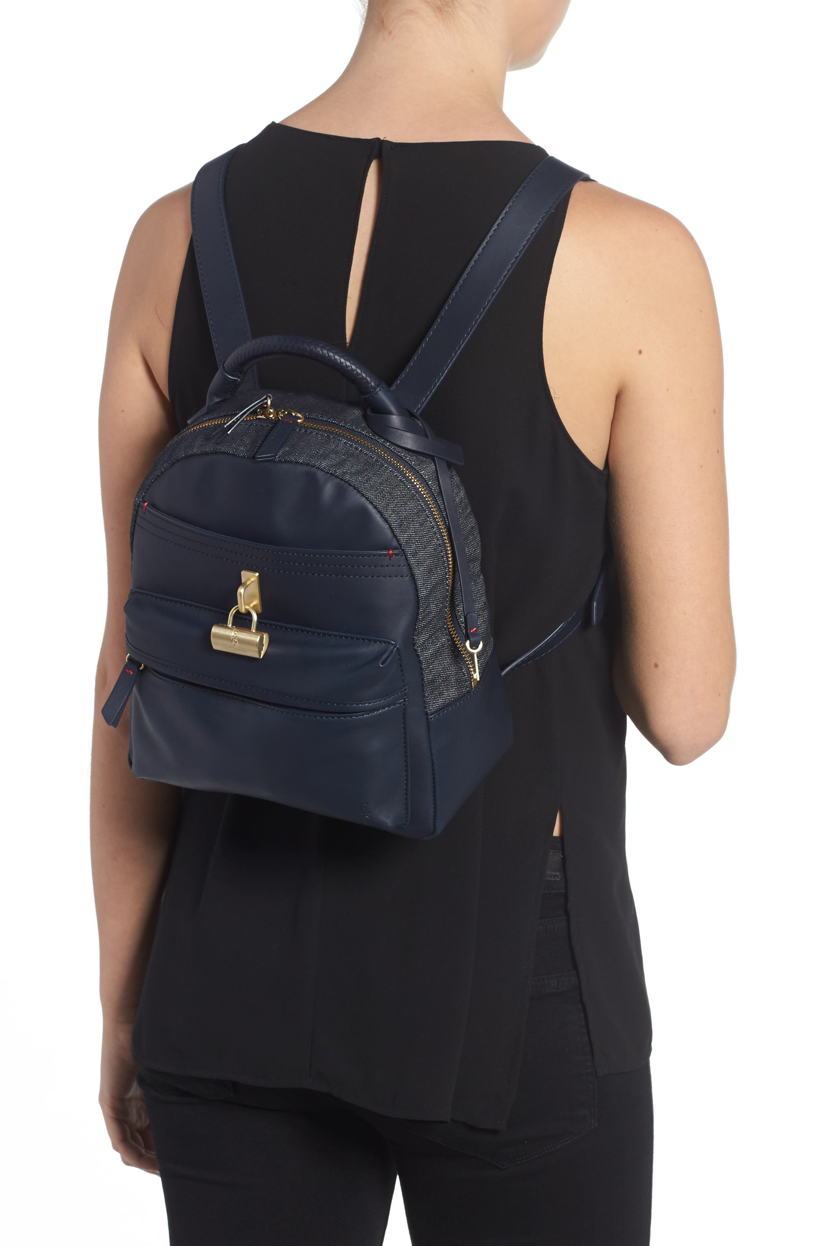 Brody Leather Backpack,                             Alternate thumbnail 4, color,