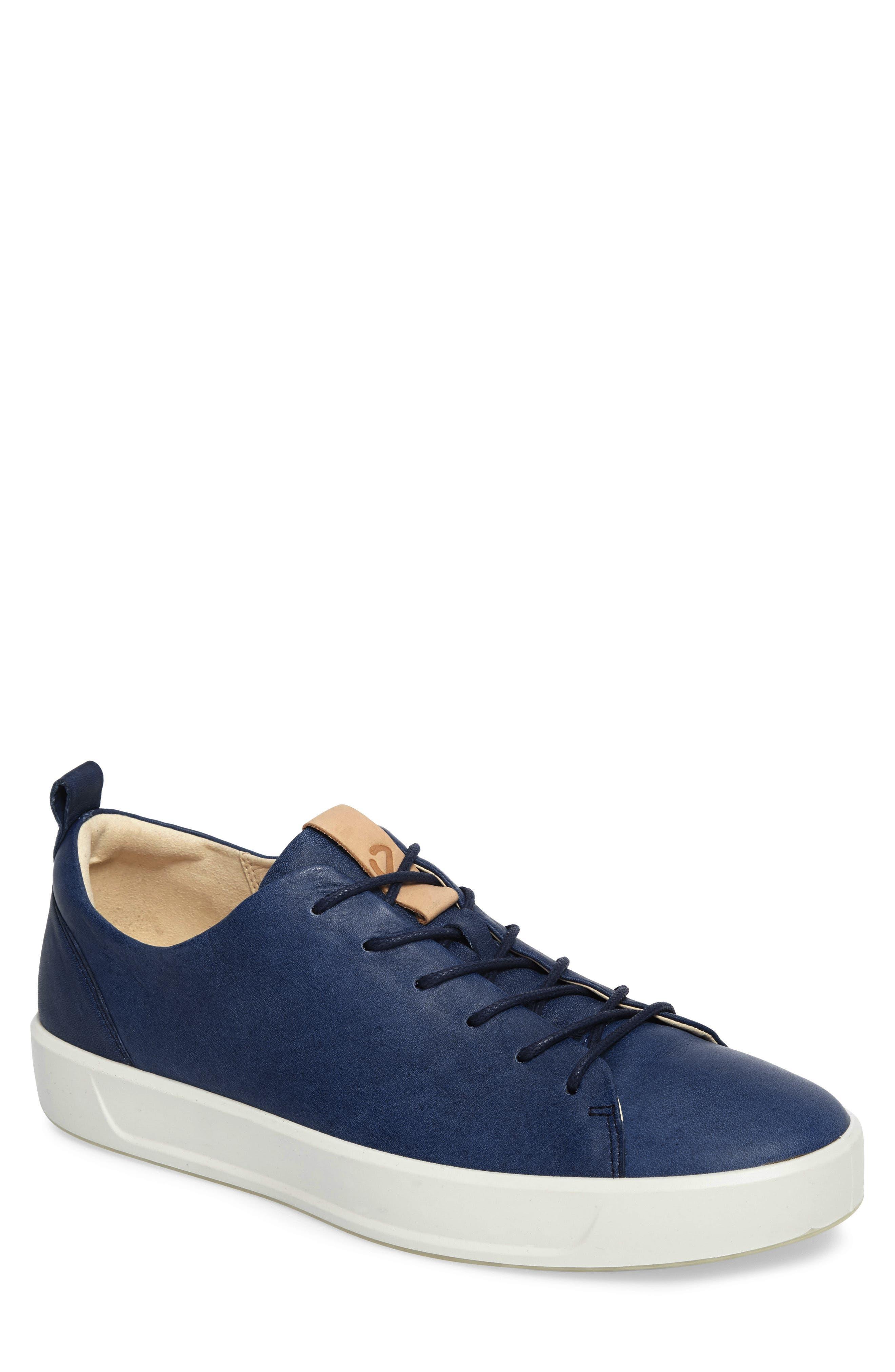 Soft 8 Sneaker,                             Main thumbnail 1, color,                             INDIGO 7 LEATHER