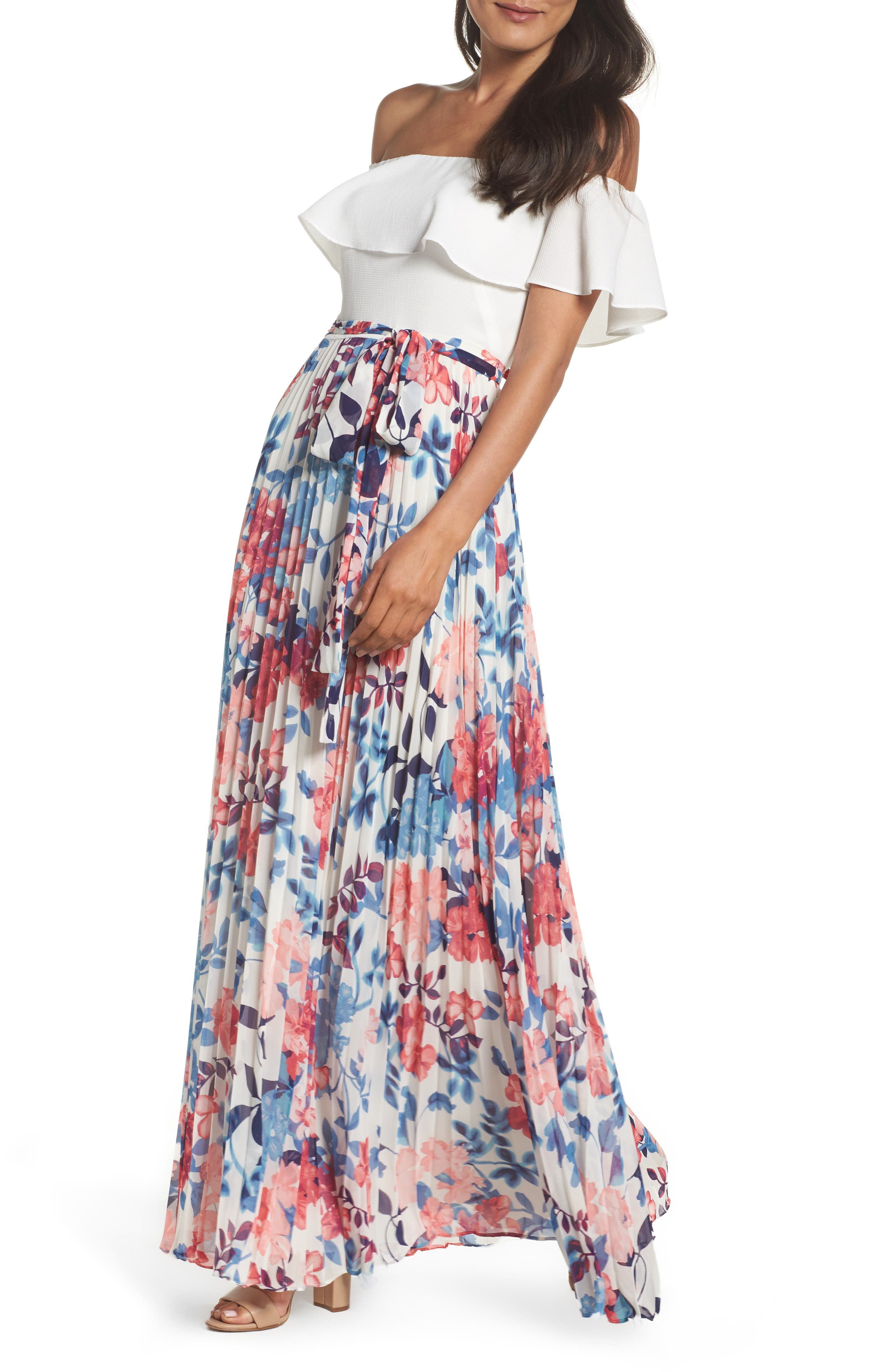 Off the Shoulder Maxi Dress,                             Alternate thumbnail 4, color,                             903