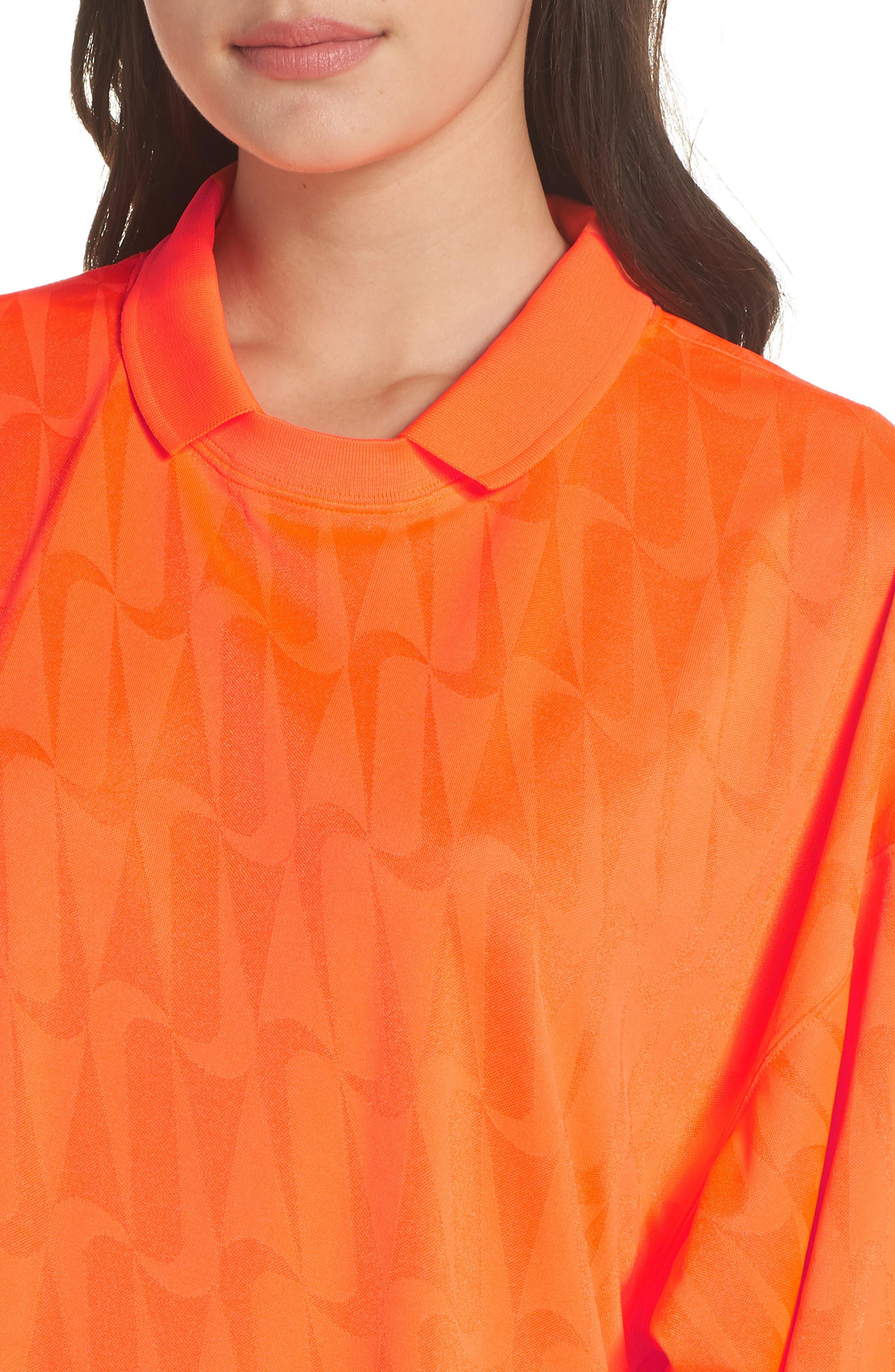 NRG Jersey Dress,                             Alternate thumbnail 4, color,                             HYPER CRIMSON