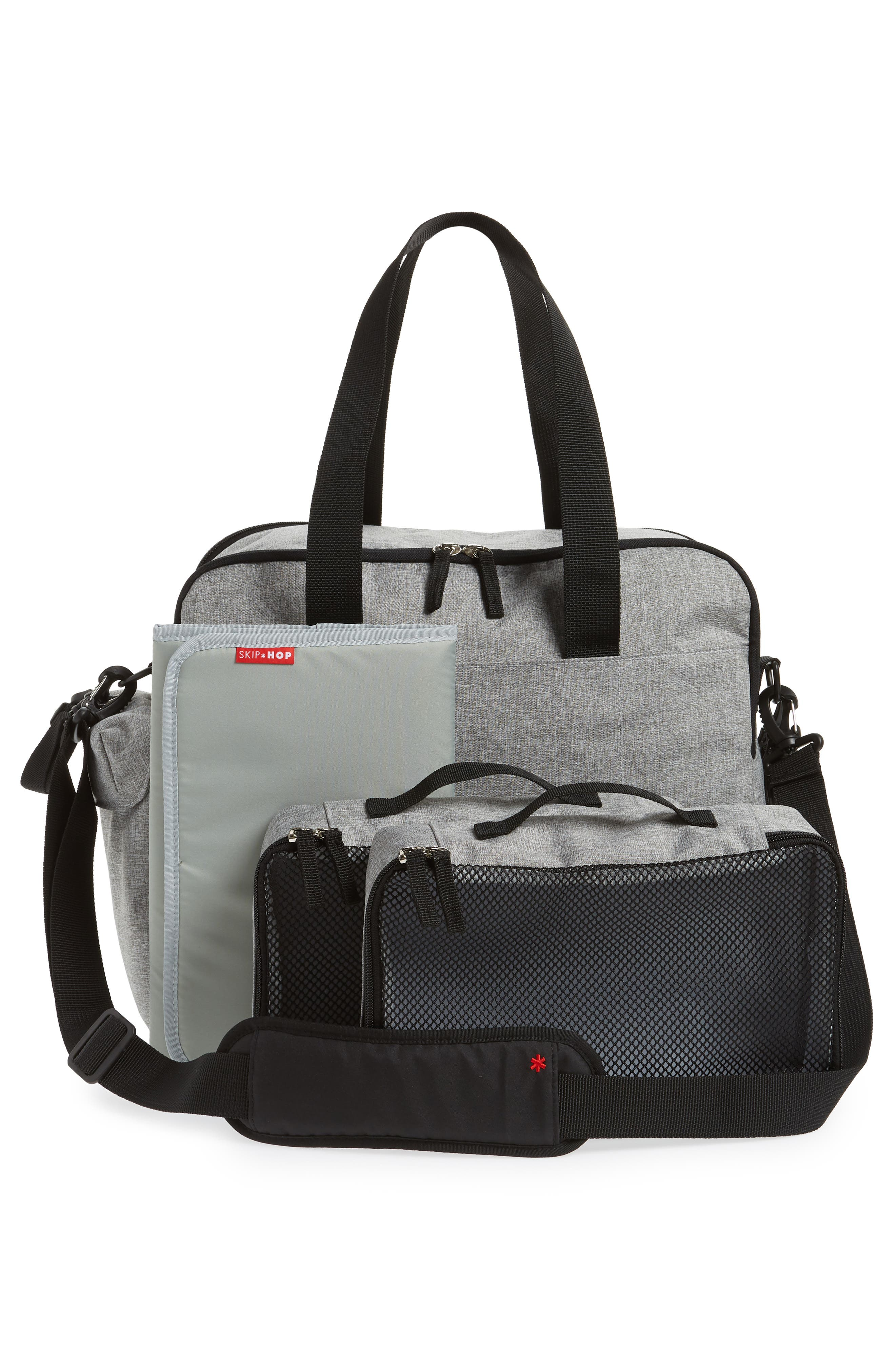 Duo Weekend Diaper Bag,                             Alternate thumbnail 3, color,                             GREY