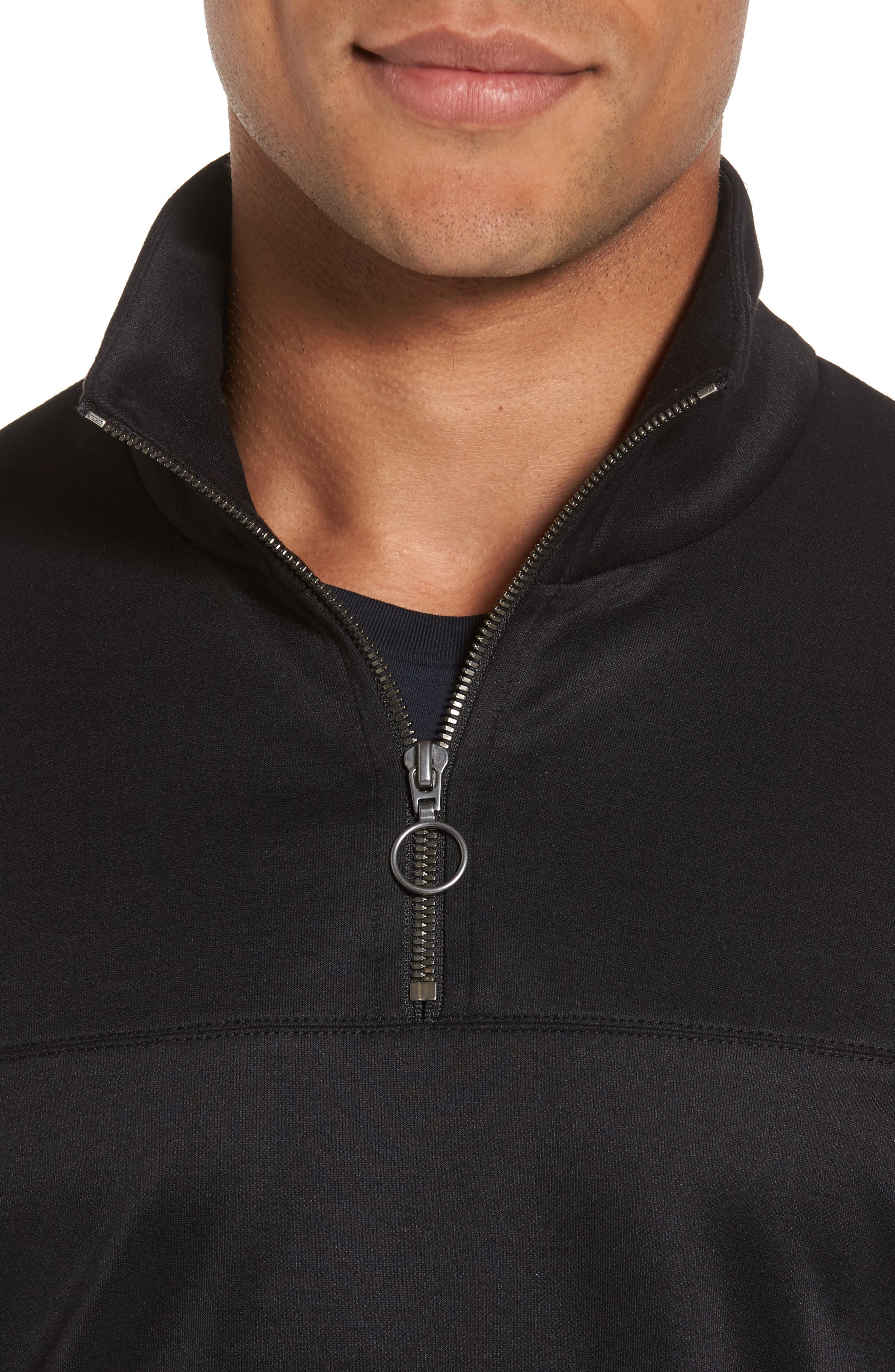 Quarter Zip Jacket,                             Alternate thumbnail 4, color,                             001