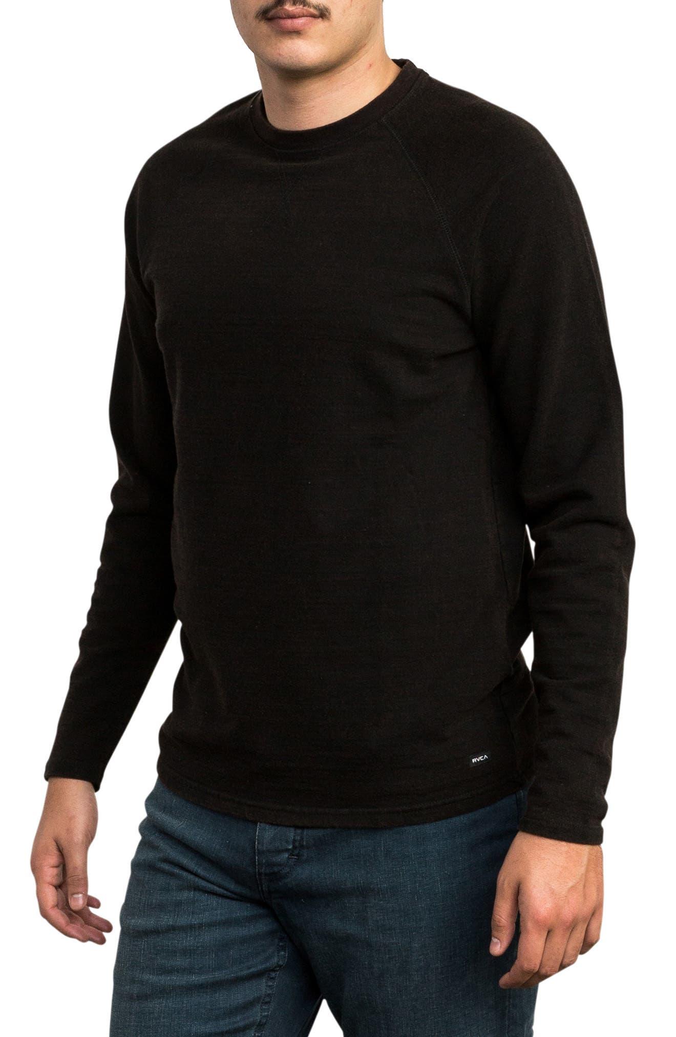 Undertone Long Sleeve T-Shirt,                             Alternate thumbnail 3, color,                             PIRATE BLACK