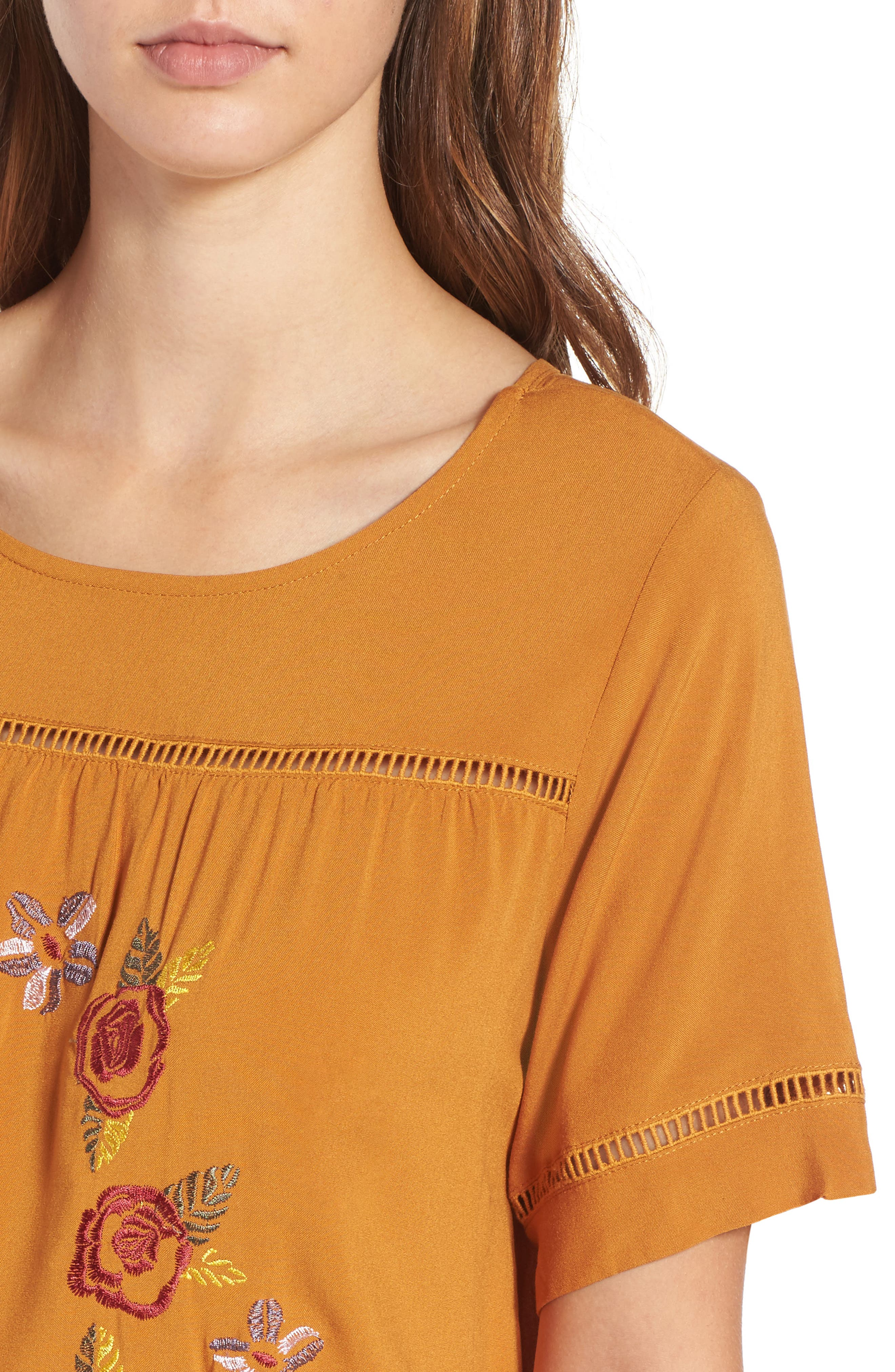 Embroidered Dress,                             Alternate thumbnail 4, color,                             201
