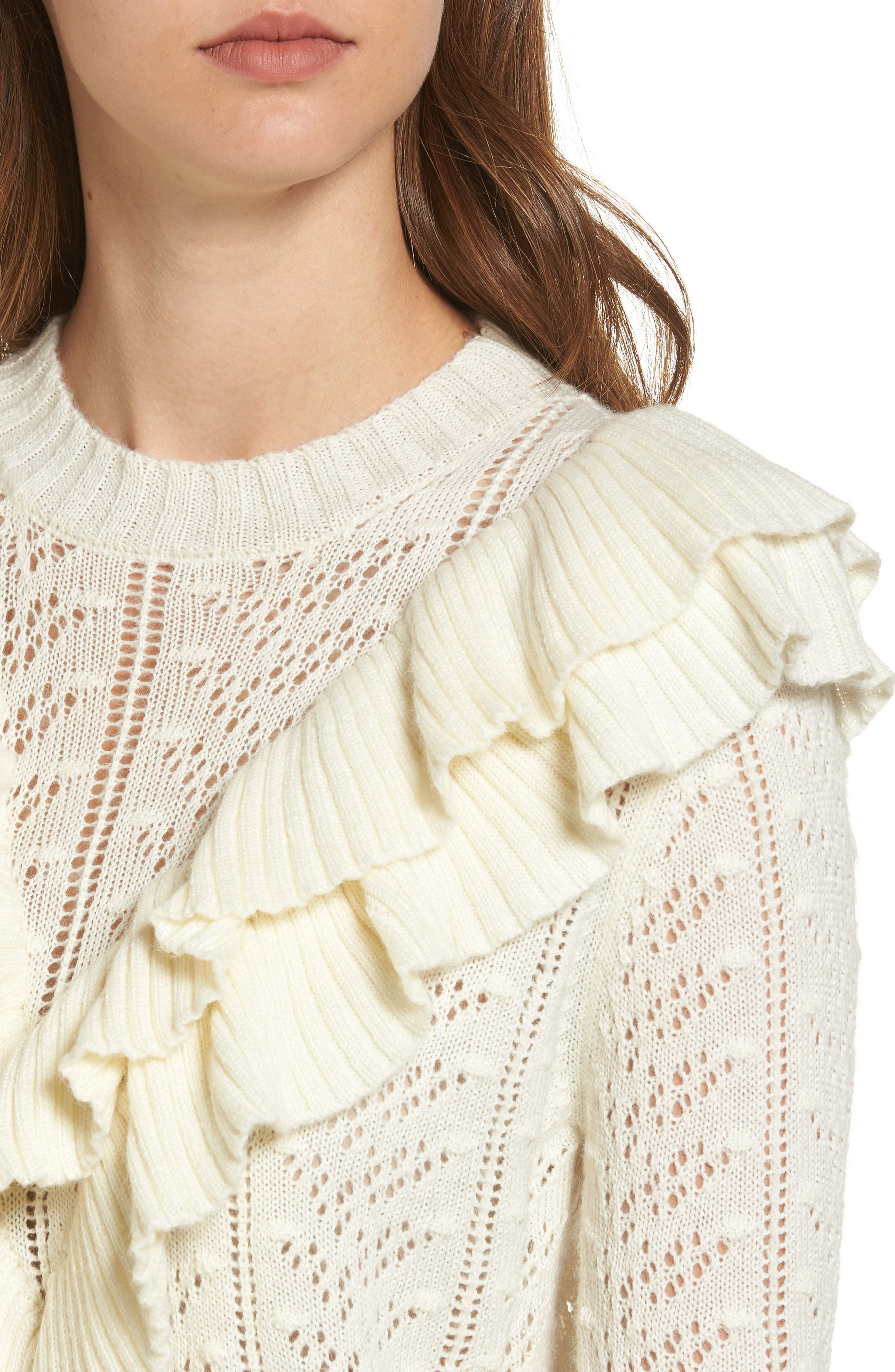 Manny Ruffle Sweater,                             Alternate thumbnail 4, color,                             900
