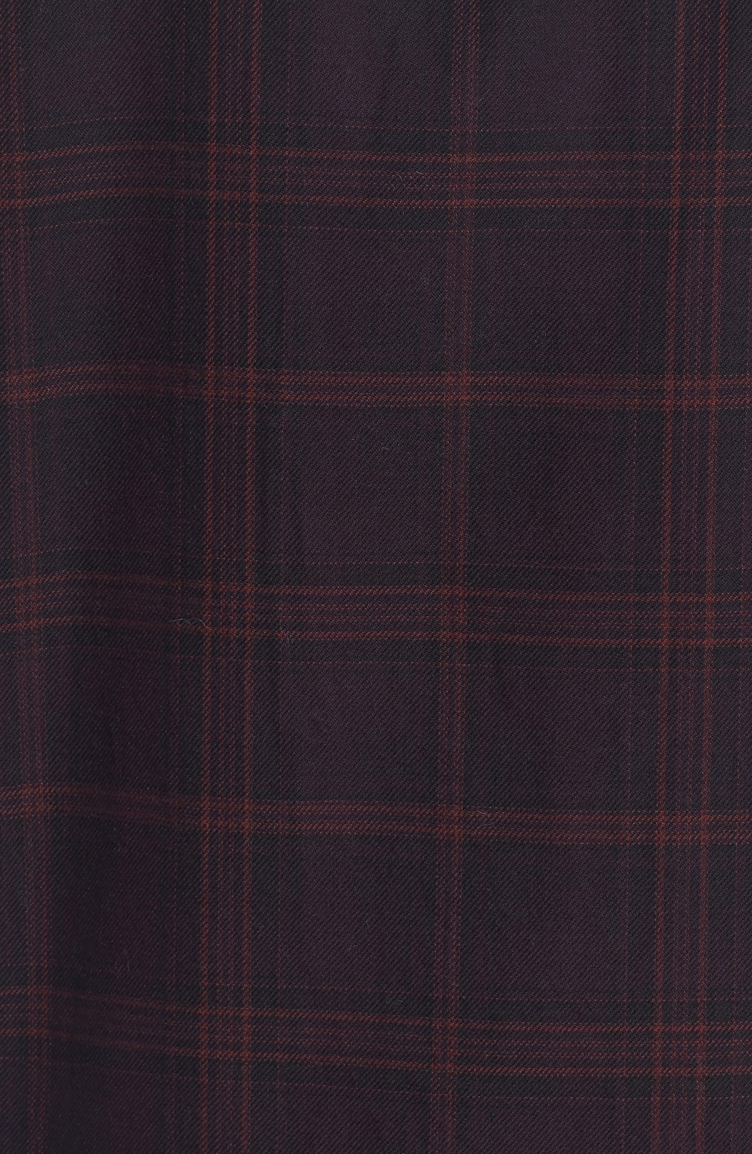 Slim Fit Check Flannel Sport Shirt,                             Alternate thumbnail 5, color,                             600