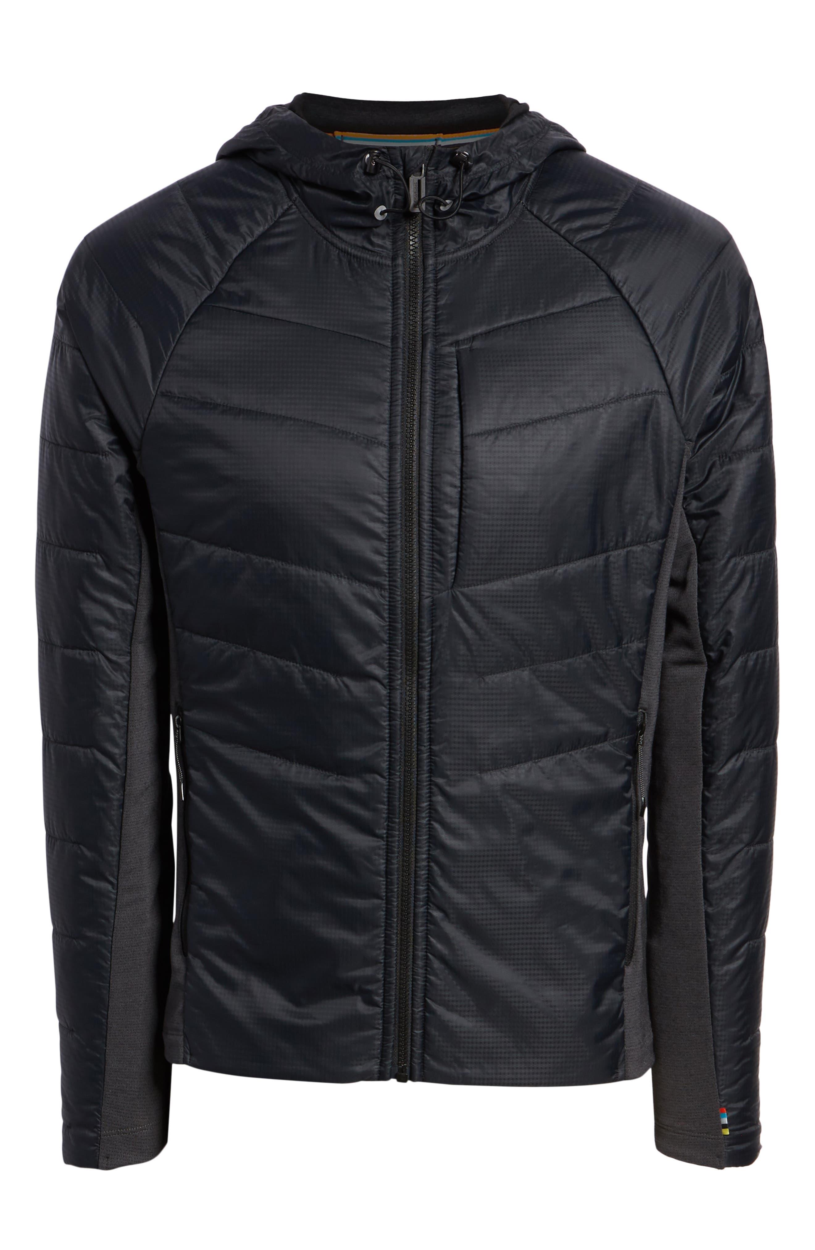 Smartloft 60 Hooded Jacket,                             Alternate thumbnail 5, color,                             BLACK