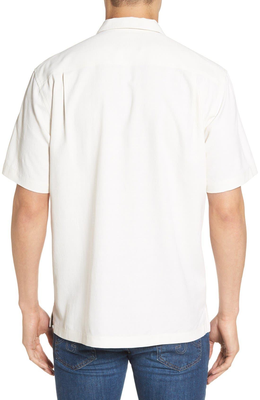 'Geo-Rific Jacquard' Original Fit Silk Camp Shirt,                             Alternate thumbnail 12, color,