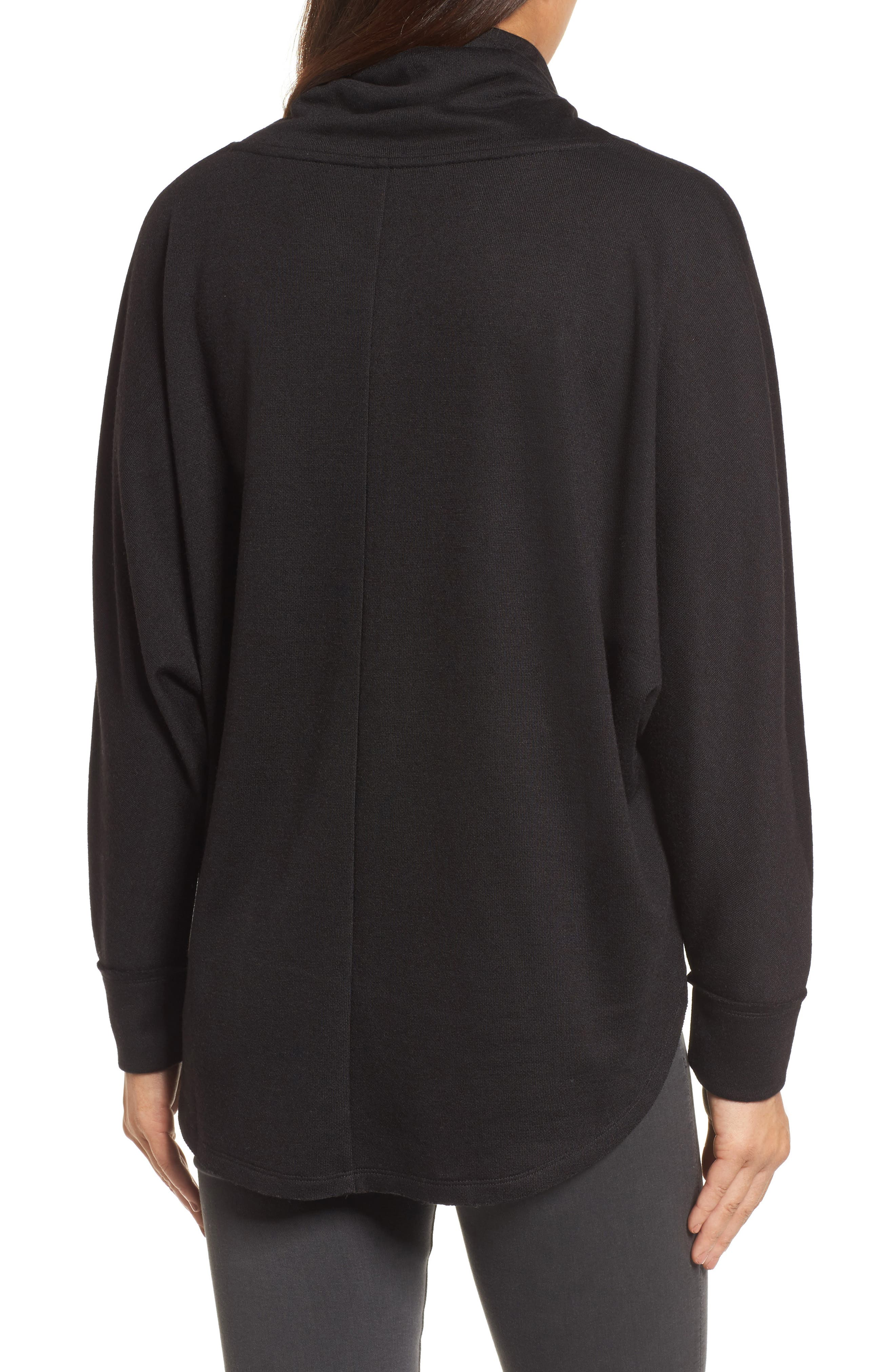 Cowl Neck Pullover,                             Alternate thumbnail 2, color,                             001