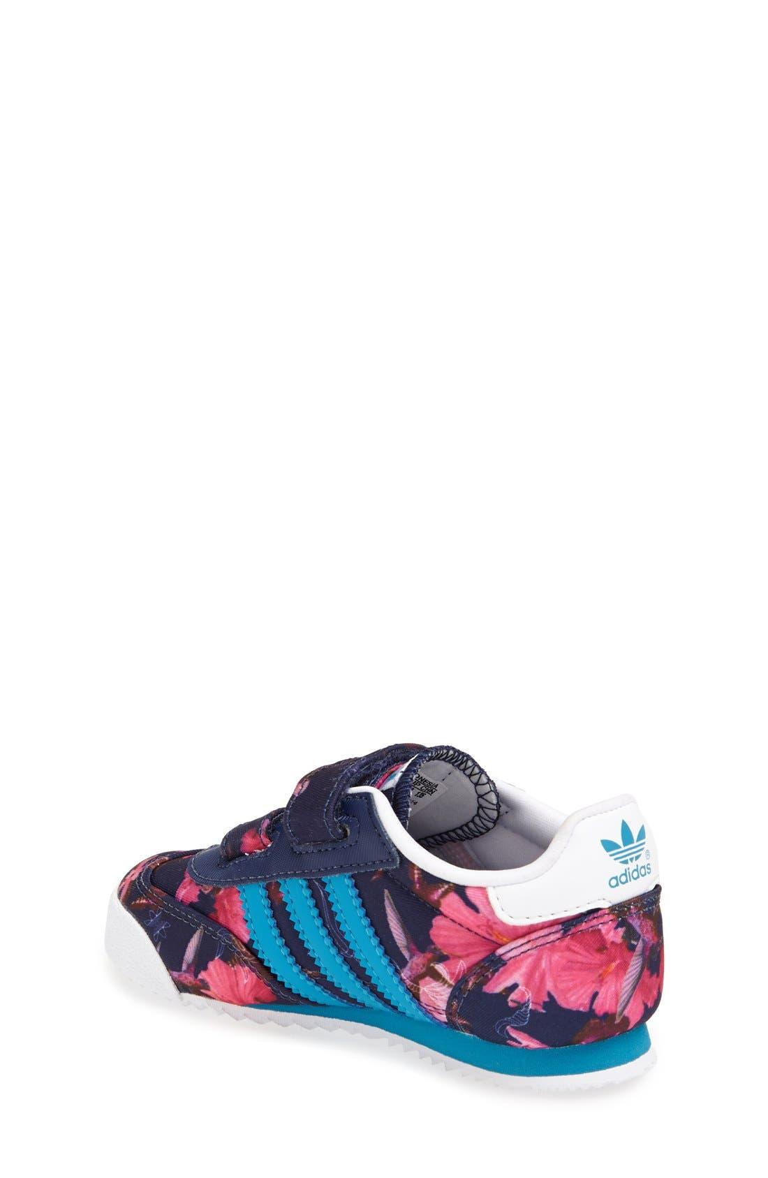 'Dragon - Floral' Sneaker,                             Alternate thumbnail 4, color,                             100
