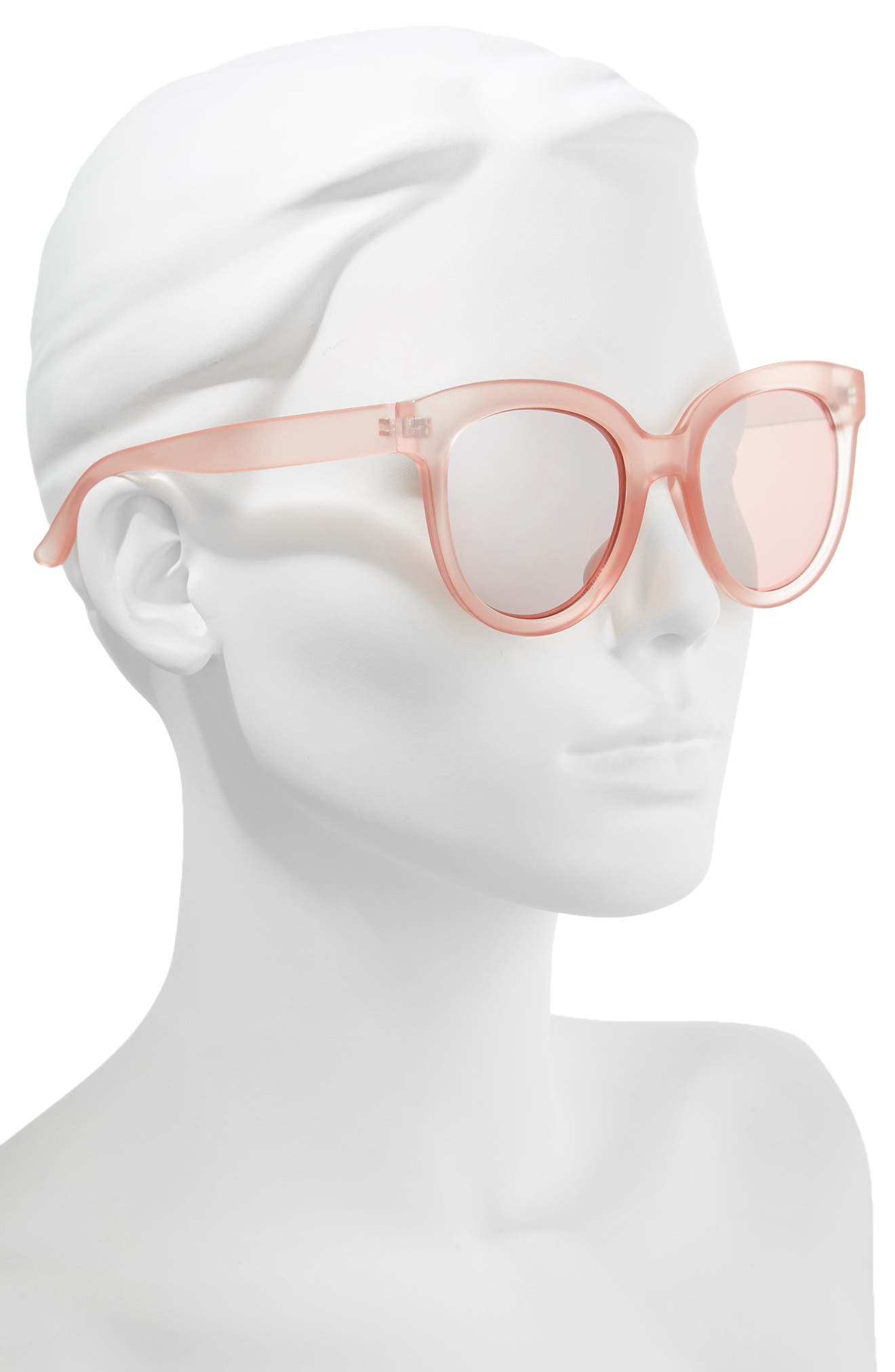 53mm Frosted Cat Eye Sunglasses,                             Alternate thumbnail 2, color,                             MILKY PINK/ ROSE GOLD