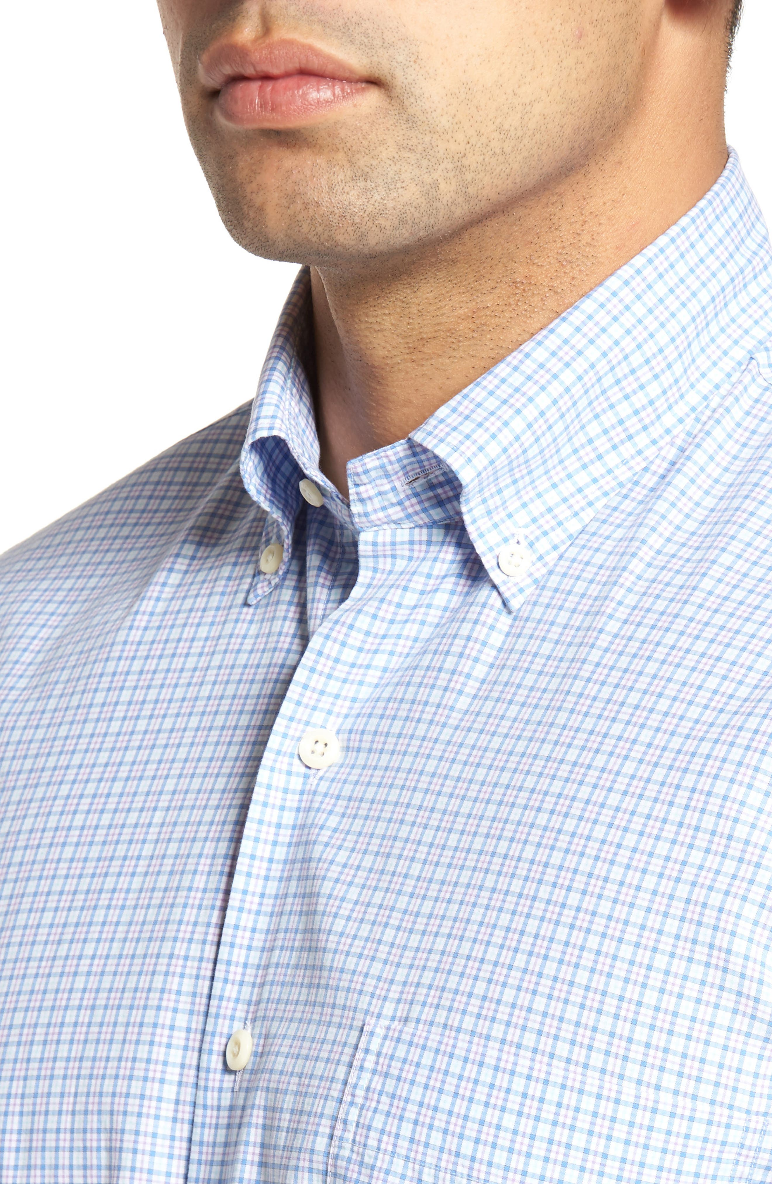 Crown Finish Regular Fit Check Sport Shirt,                             Alternate thumbnail 8, color,
