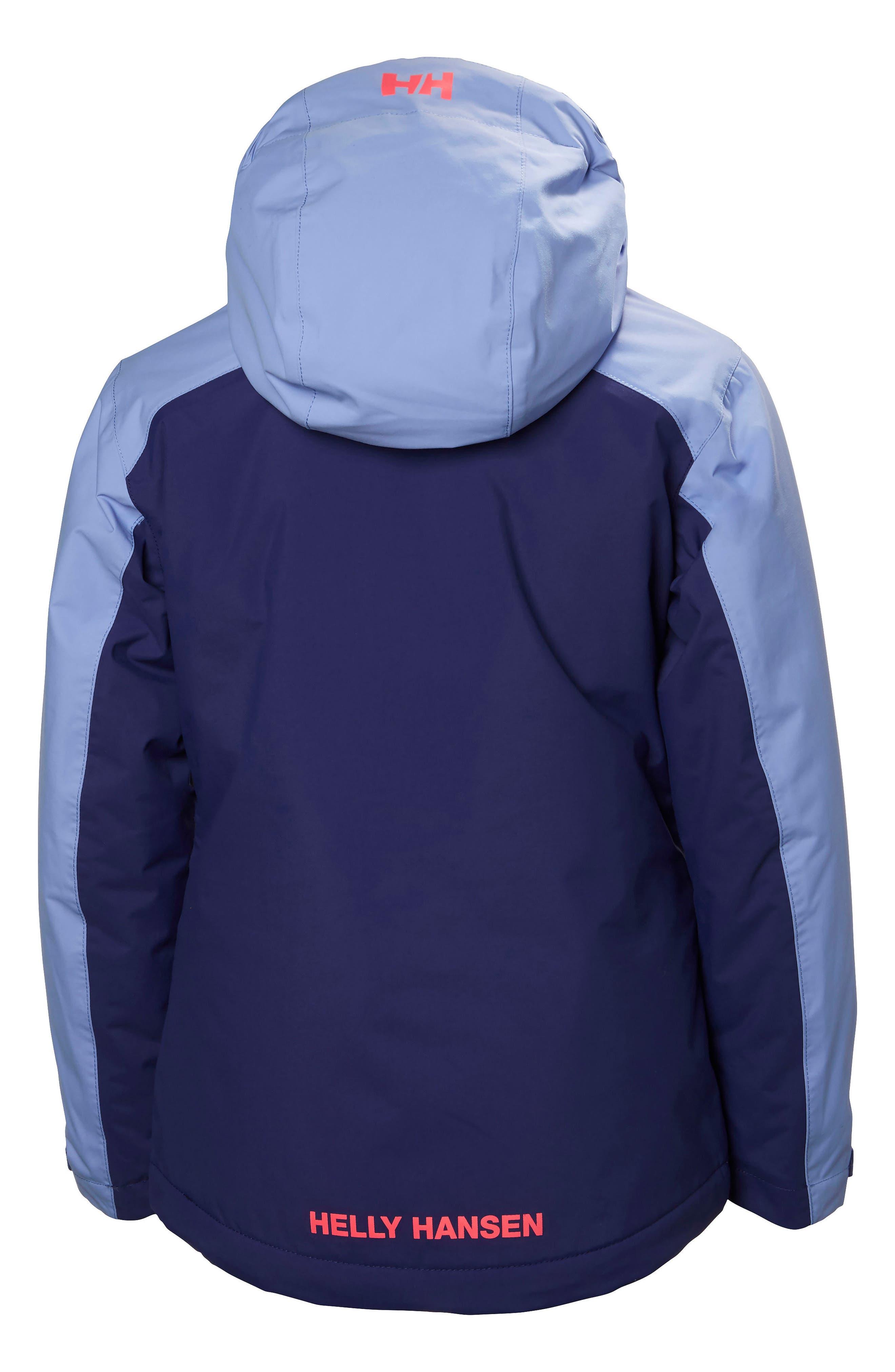 Jr. Stella Waterproof Hooded Jacket,                         Main,                         color, 504