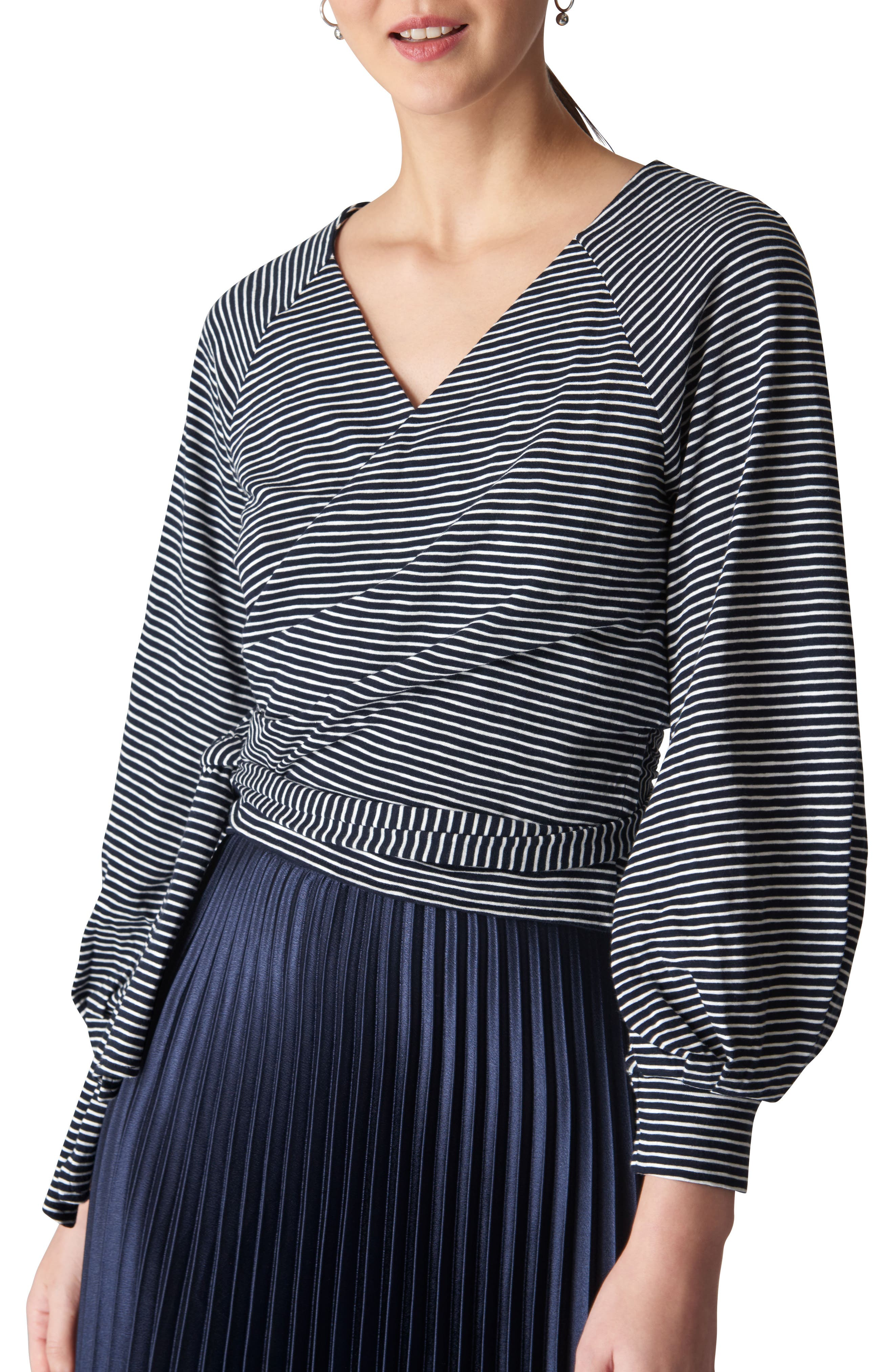 Stripe Wraparound Top,                         Main,                         color, 001