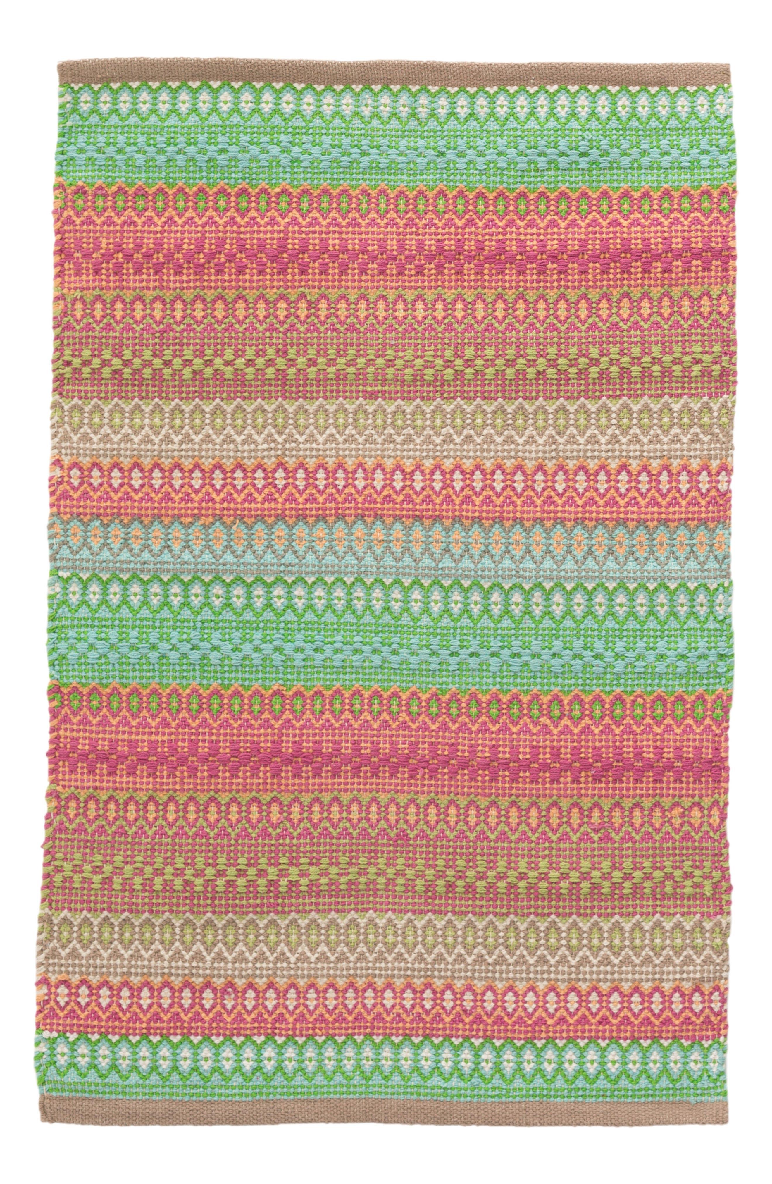 Stripe Rug,                         Main,                         color, GREEN