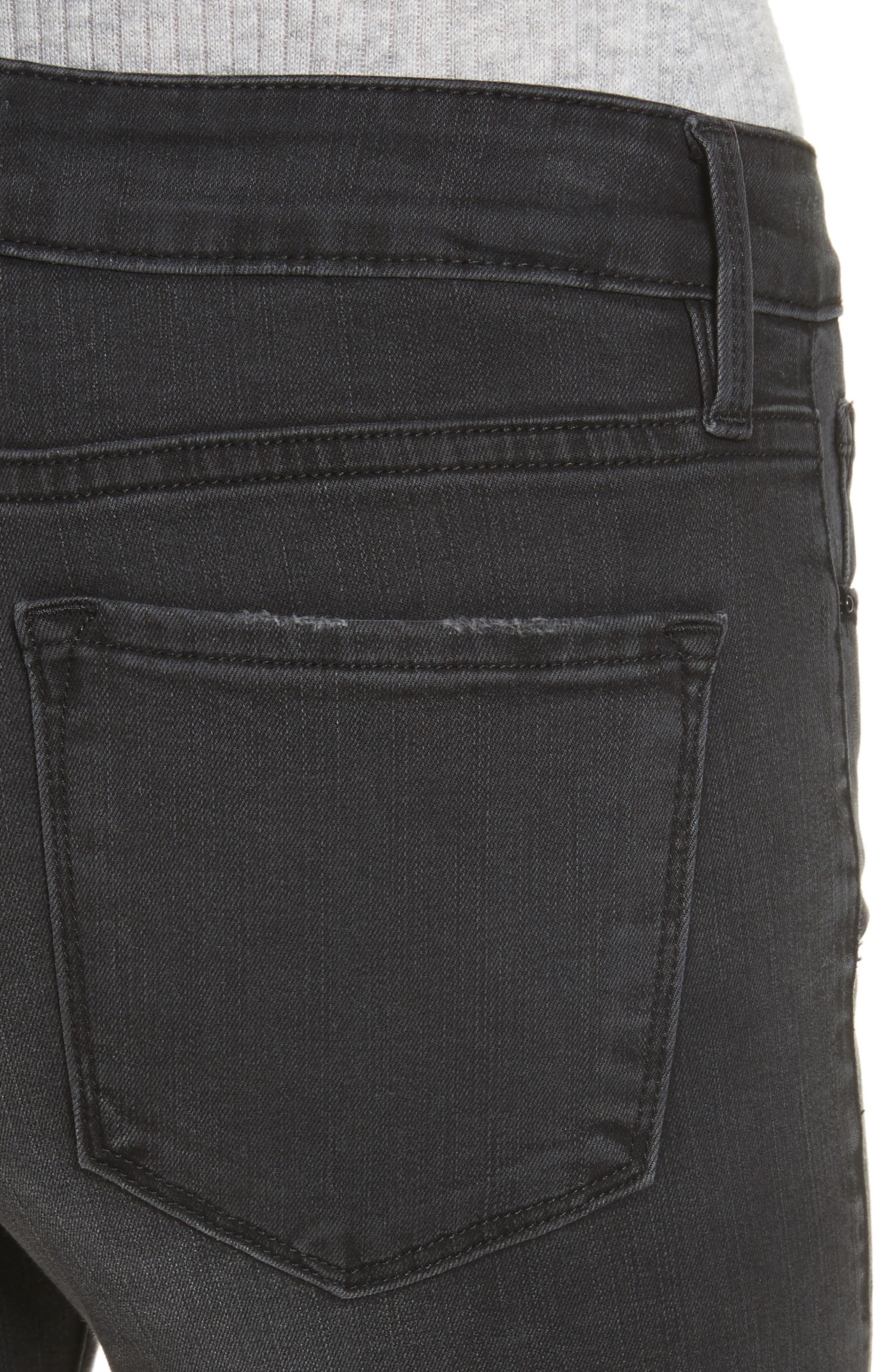 Le Crop Mini Boot Jeans,                             Alternate thumbnail 4, color,                             KERRY