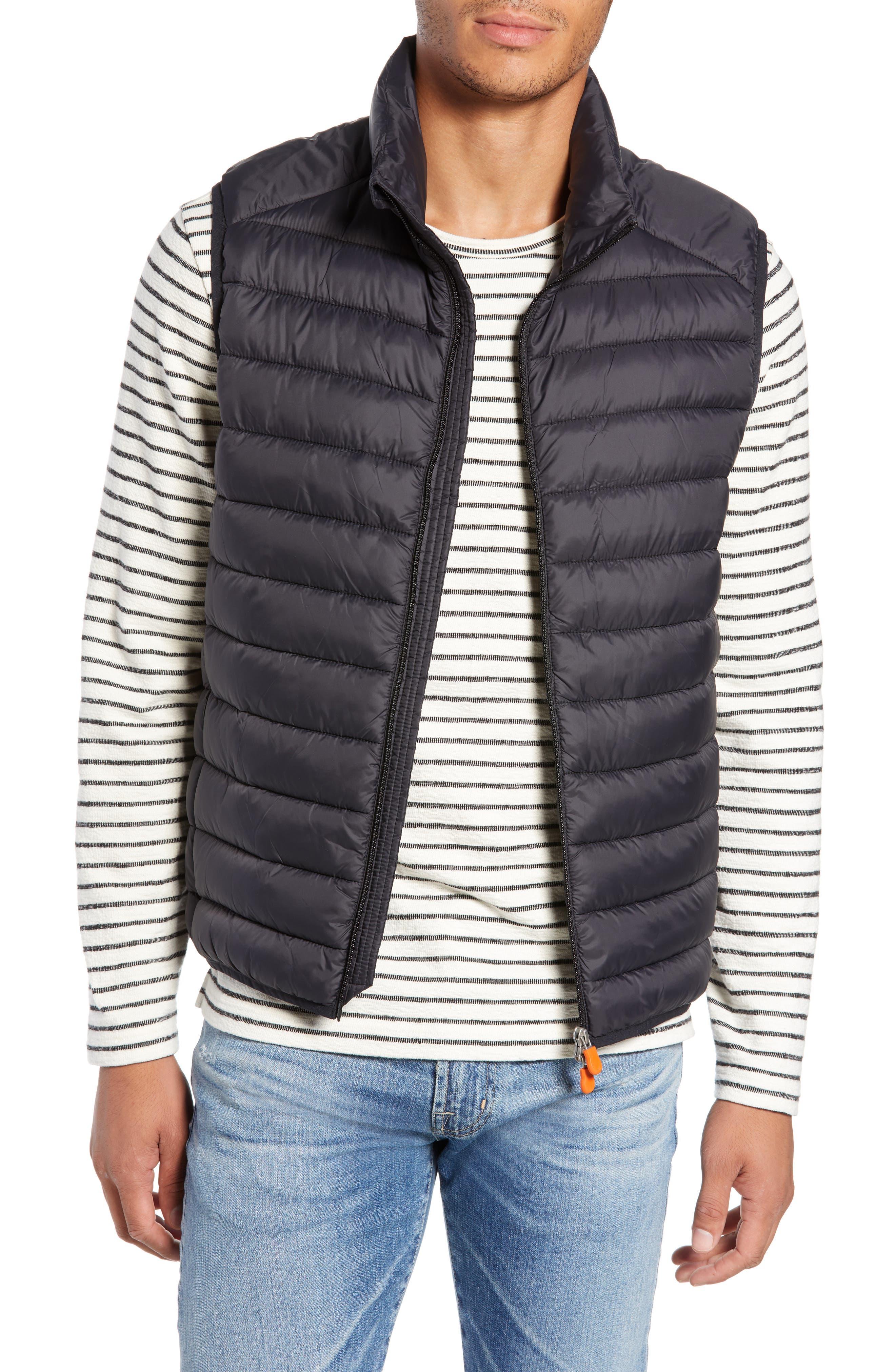 Lightweight Packable Vest,                         Main,                         color, BLACK