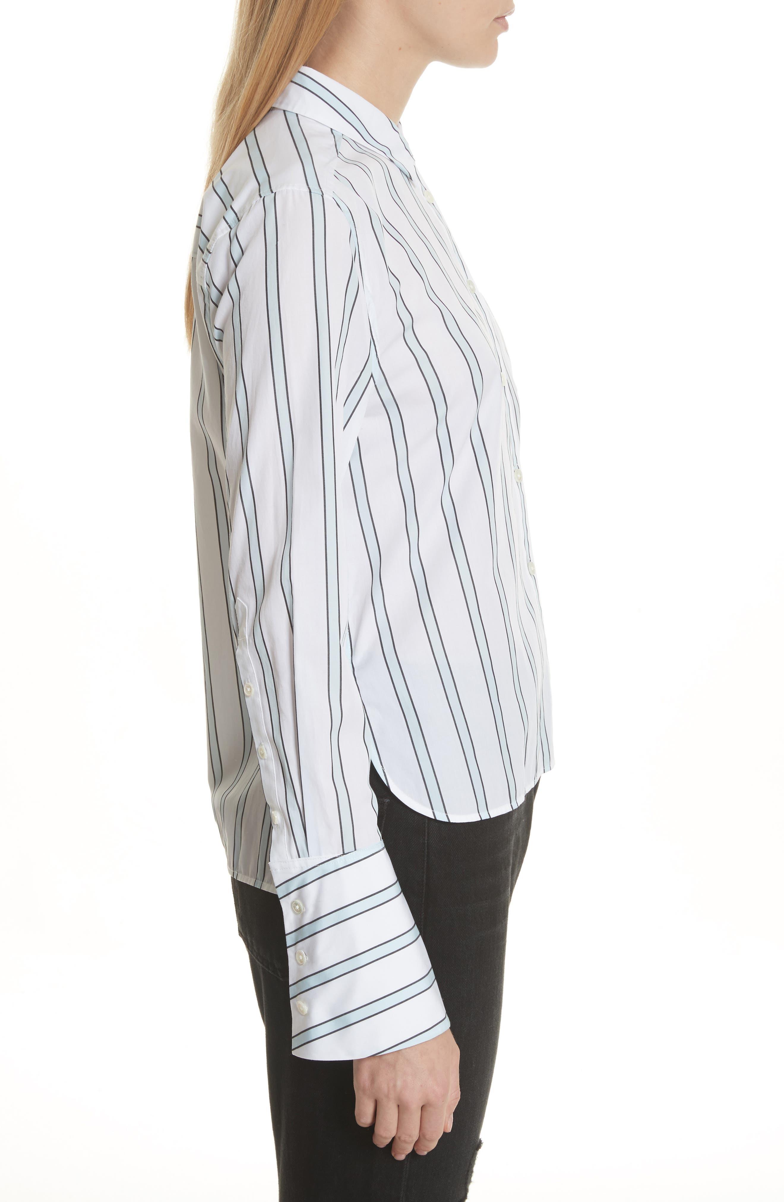 Huntley Stripe Cotton Shirt,                             Alternate thumbnail 3, color,                             157