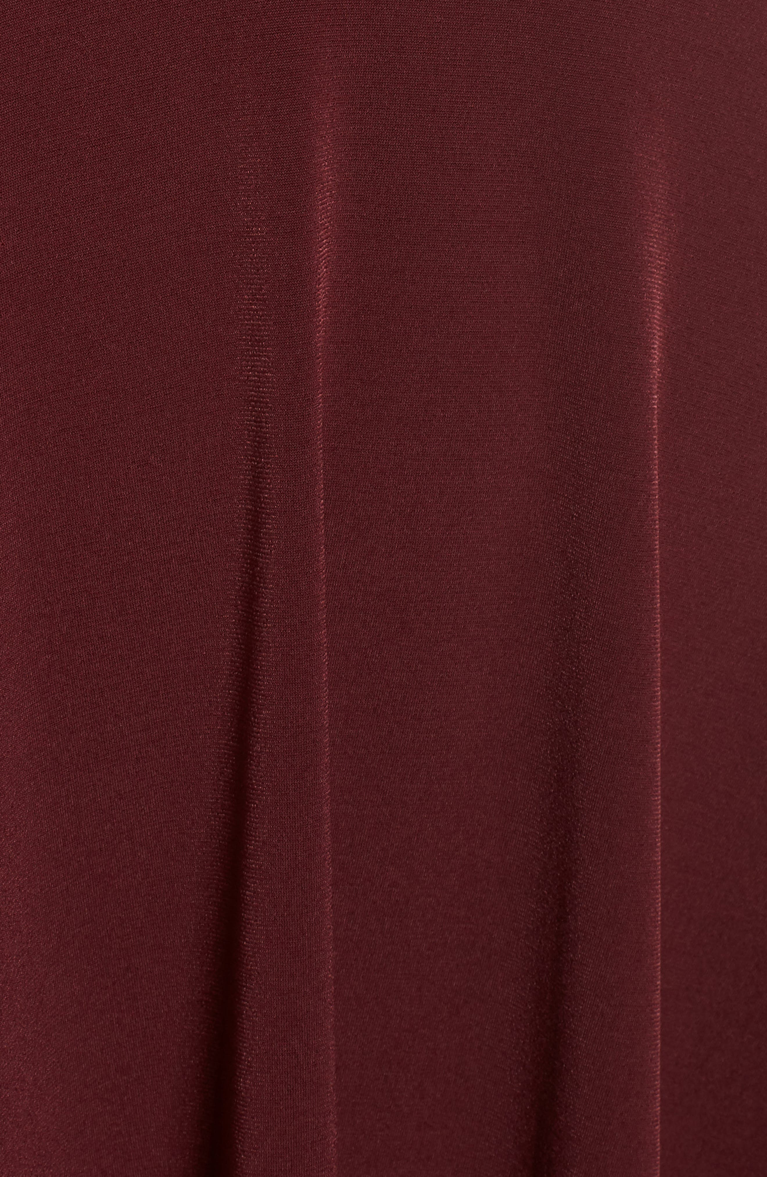 Crystal Halter Dress,                             Alternate thumbnail 5, color,                             WINE