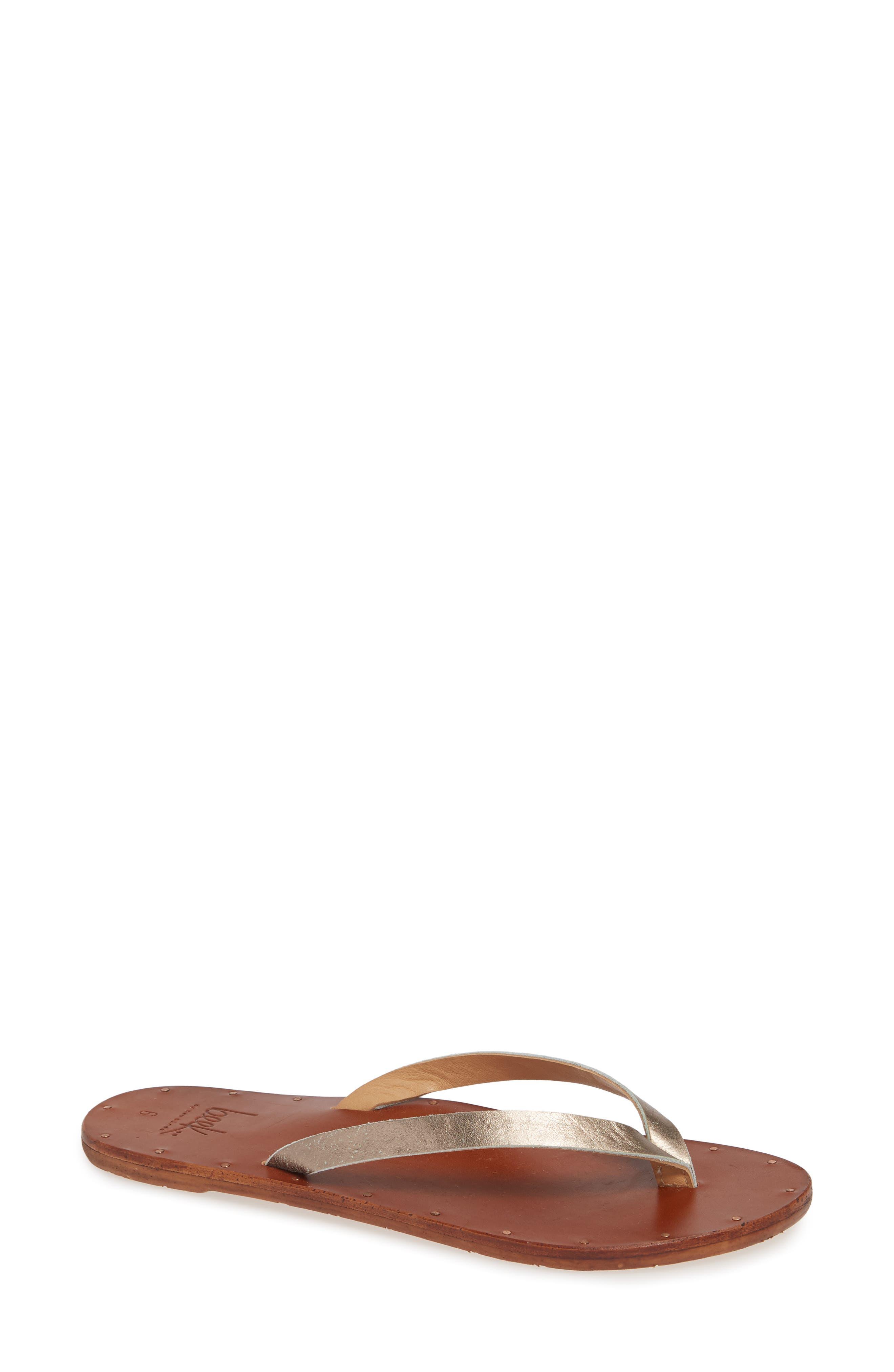 BEEK Seabird Flip Flop in Bronze/ Tan