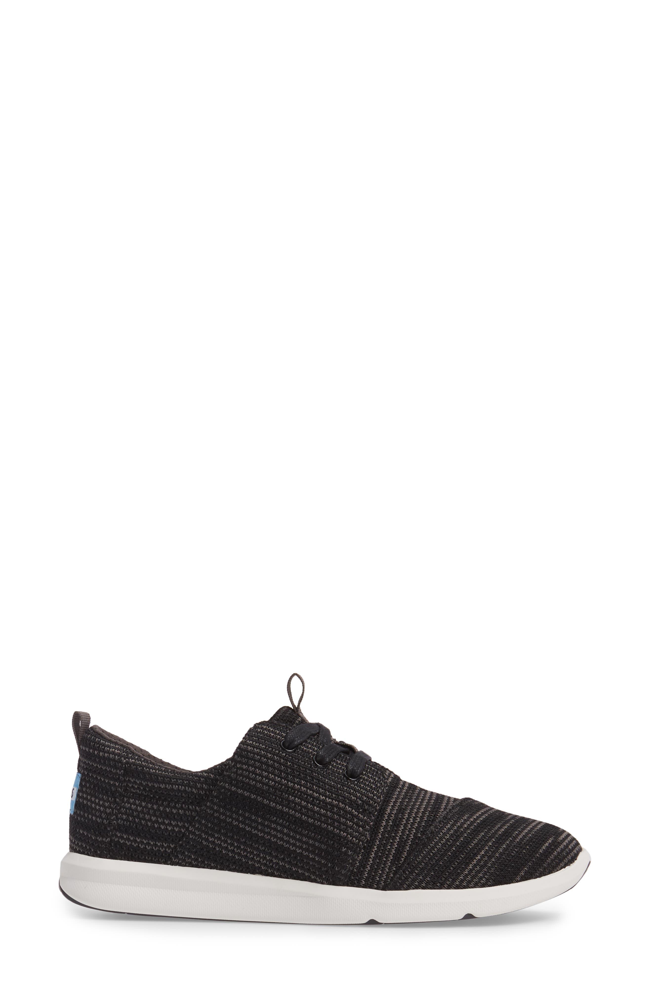 TOMS,                             'Del Ray' Sneaker,                             Alternate thumbnail 3, color,                             001