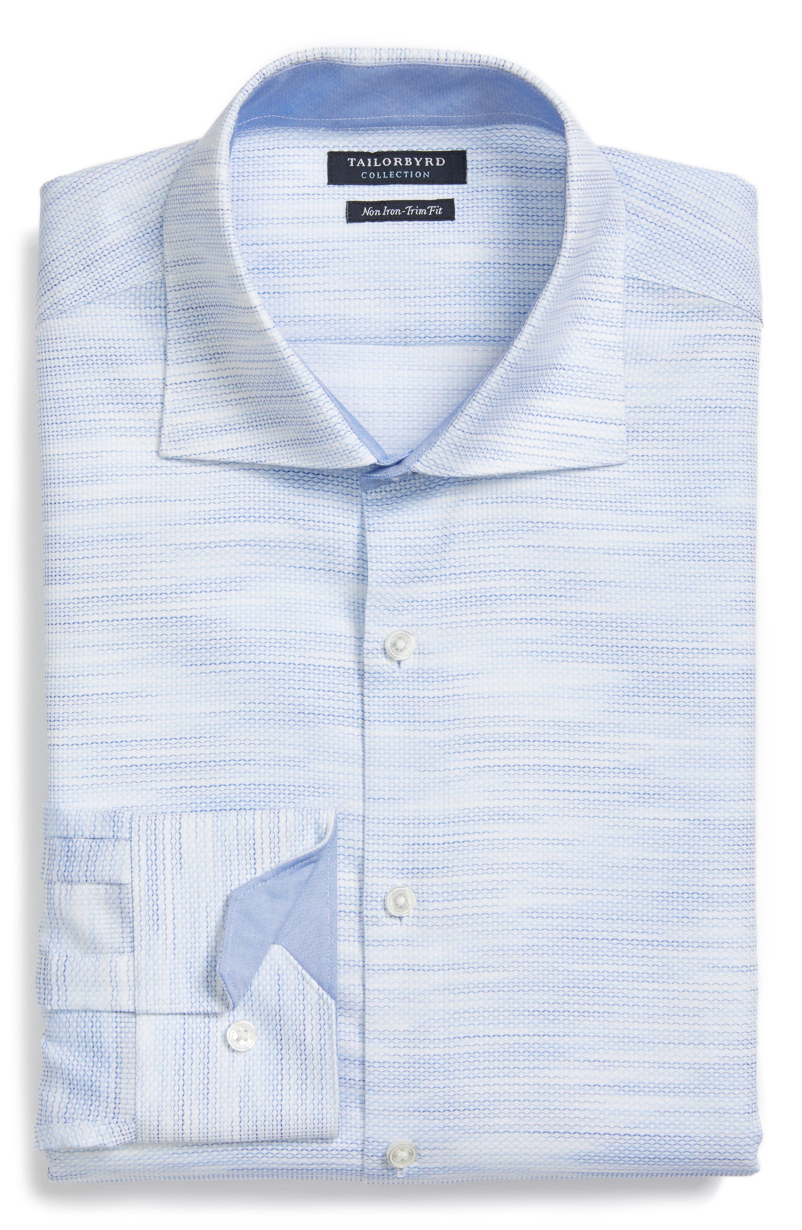 Trim Fit Solid Dress Shirt,                             Alternate thumbnail 3, color,                             400