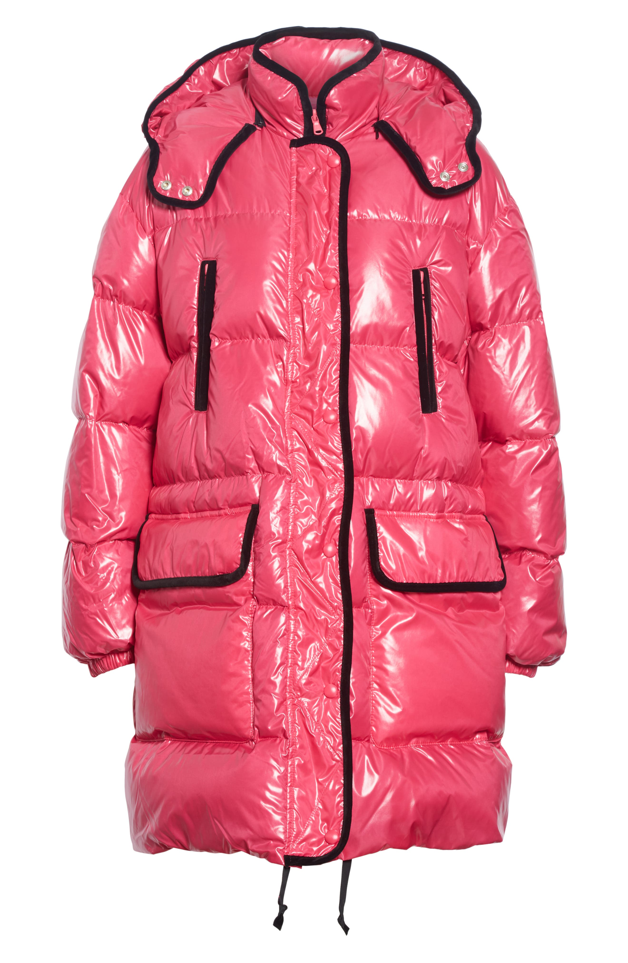 RED VALENTINO,                             Puffer Coat,                             Alternate thumbnail 5, color,                             650